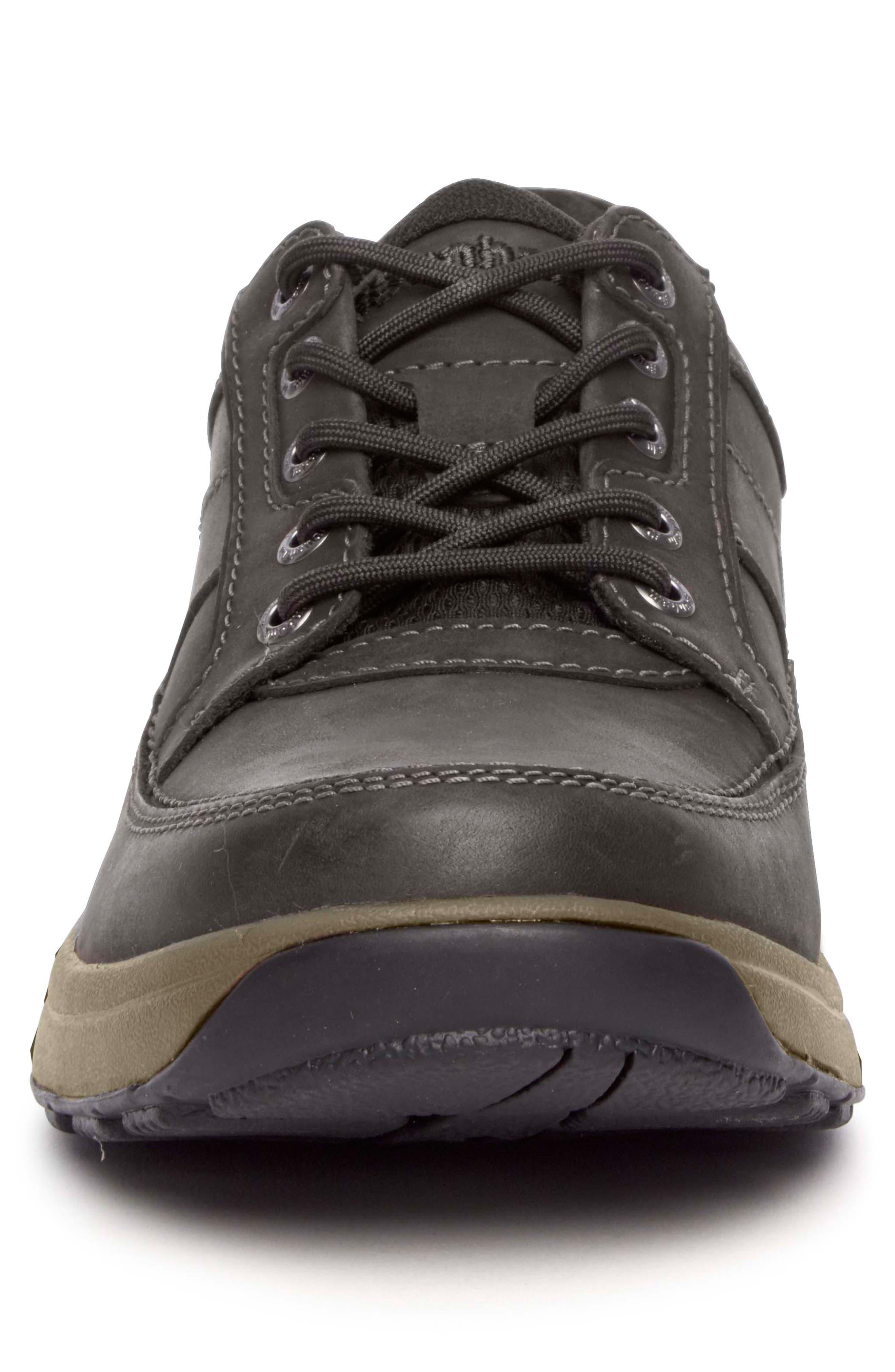 DUNHAM, 'Midland' Sneaker, Alternate thumbnail 4, color, BROWN LEATHER