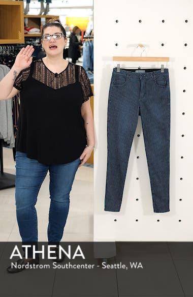 Ab-Solution Stripe High Waist Crop Skinny Jeans, sales video thumbnail