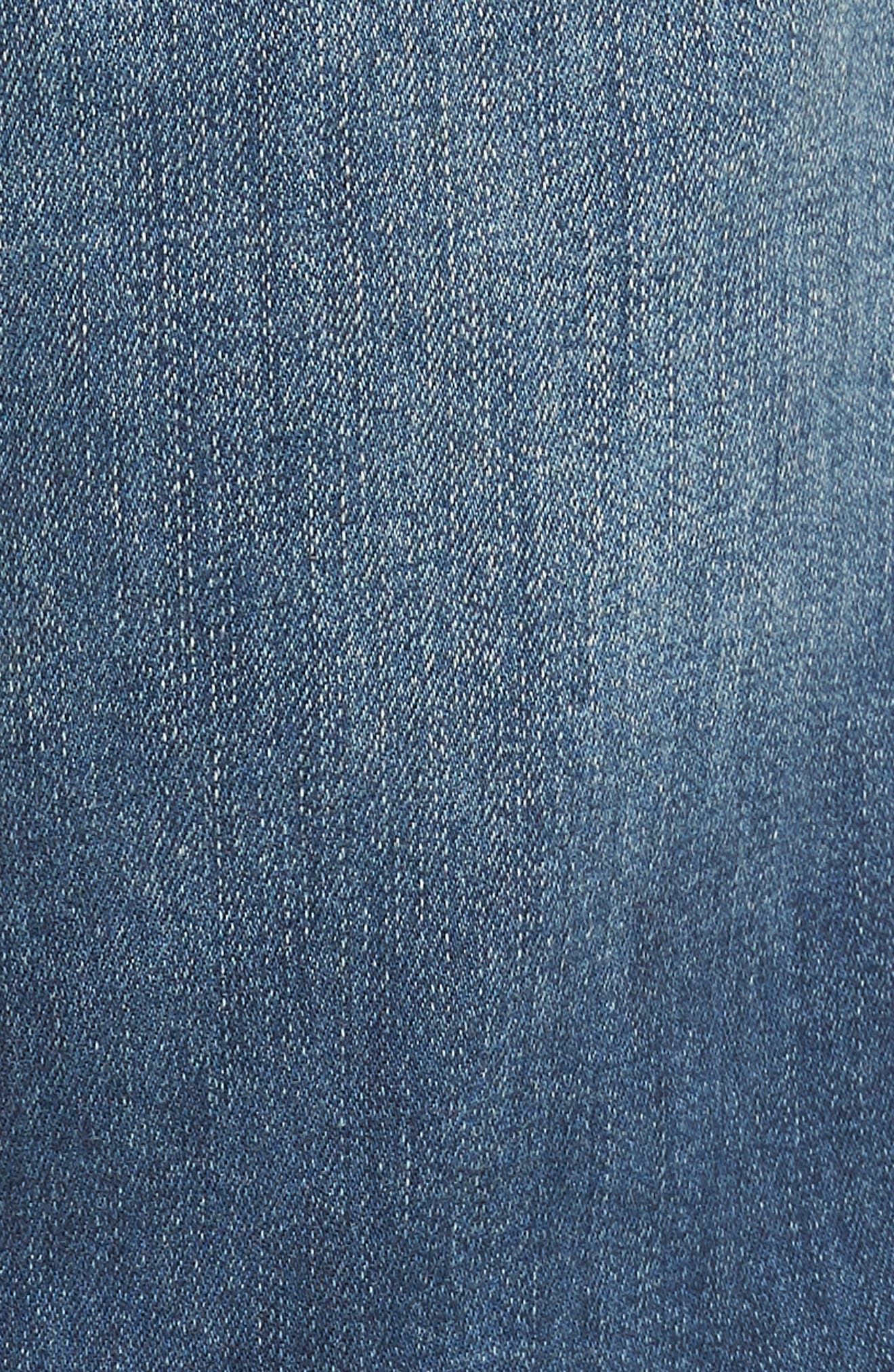 LIVERPOOL, Regent Relaxed Straight Leg Jeans, Alternate thumbnail 5, color, CHATSWORTH