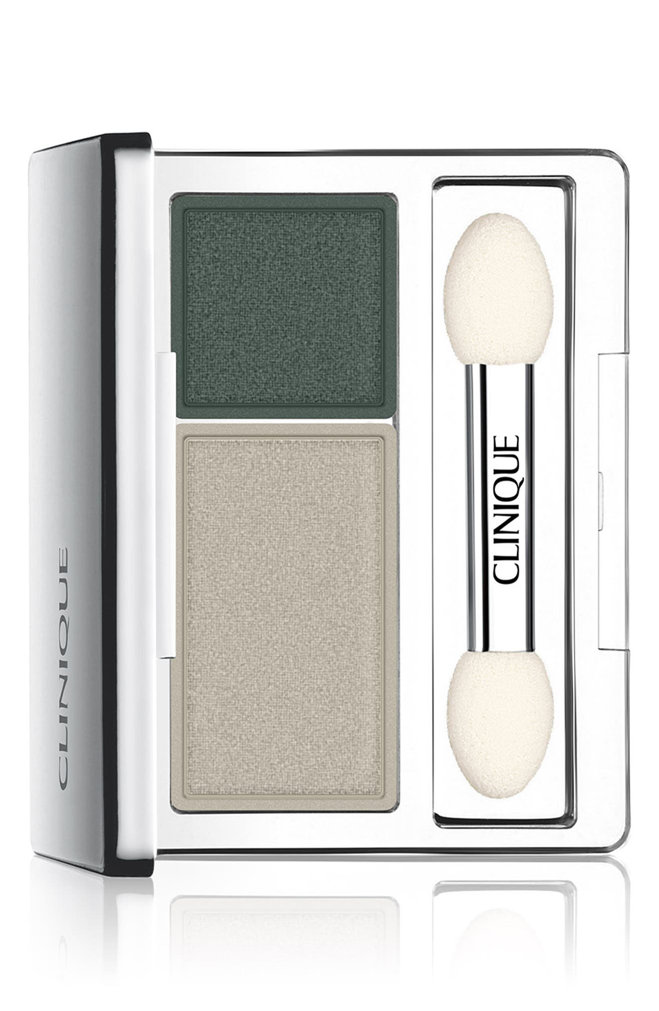 CLINIQUE, All About Shadow Eyeshadow Duo, Main thumbnail 1, color, NIGHTCAP