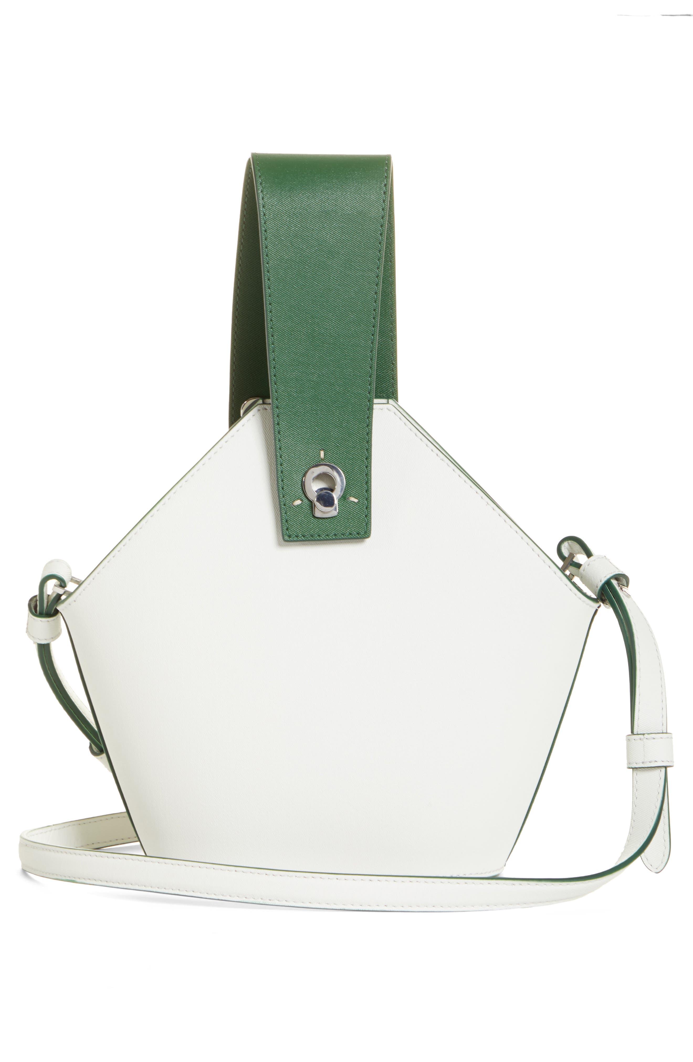 DANSE LENTE, Mini Johnny Leather Bucket Bag, Alternate thumbnail 5, color, MOONSEED