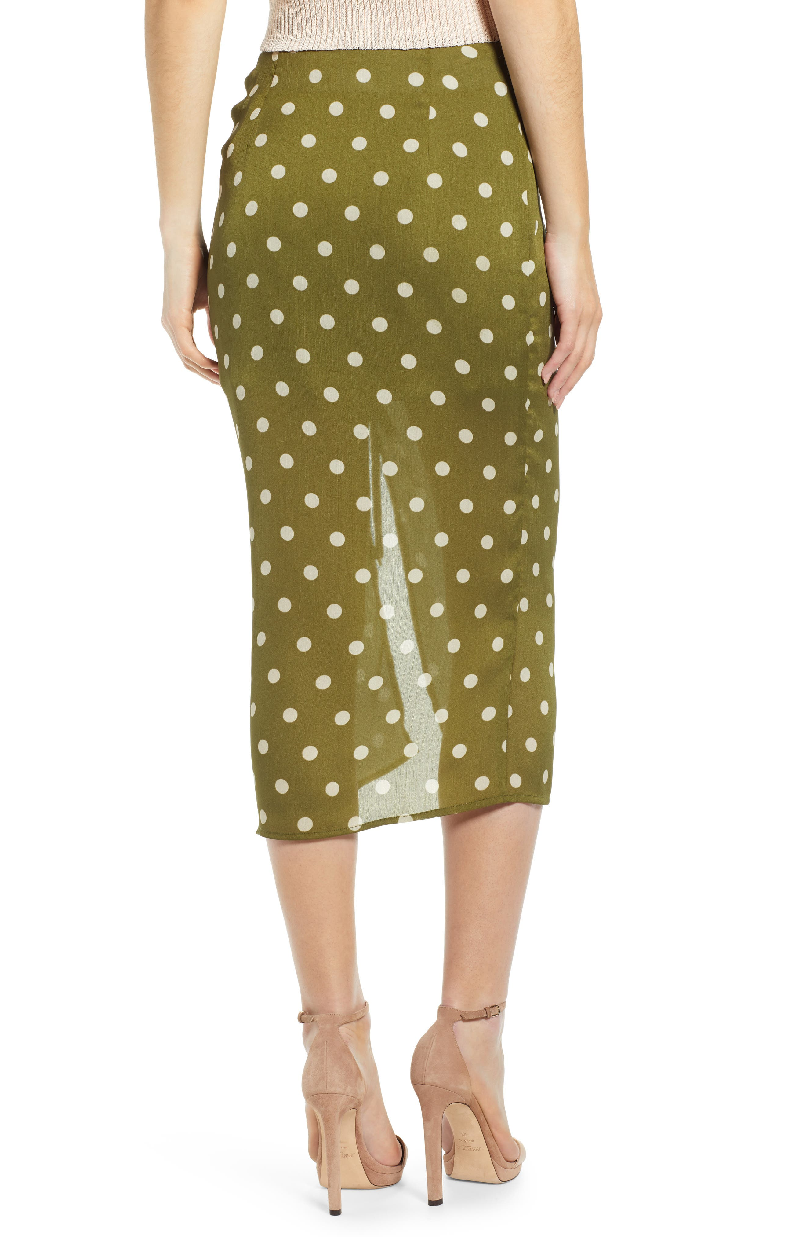 CHRISELLE LIM COLLECTION, Chriselle Lim Ren Ruched Skirt, Alternate thumbnail 2, color, CREAM/ OLIVE
