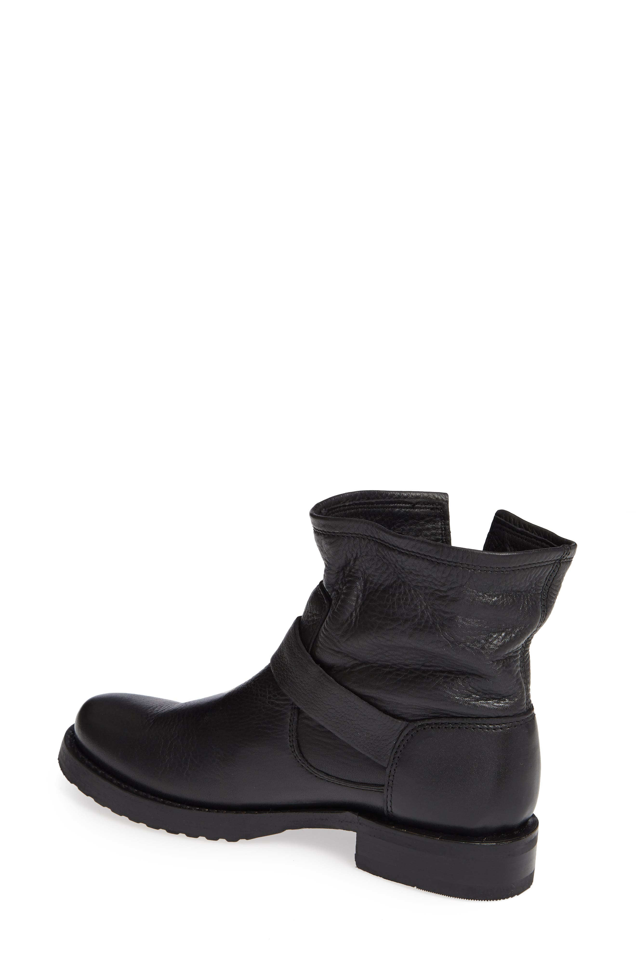FRYE, Veronica Bootie, Alternate thumbnail 2, color, BLACK LEATHER