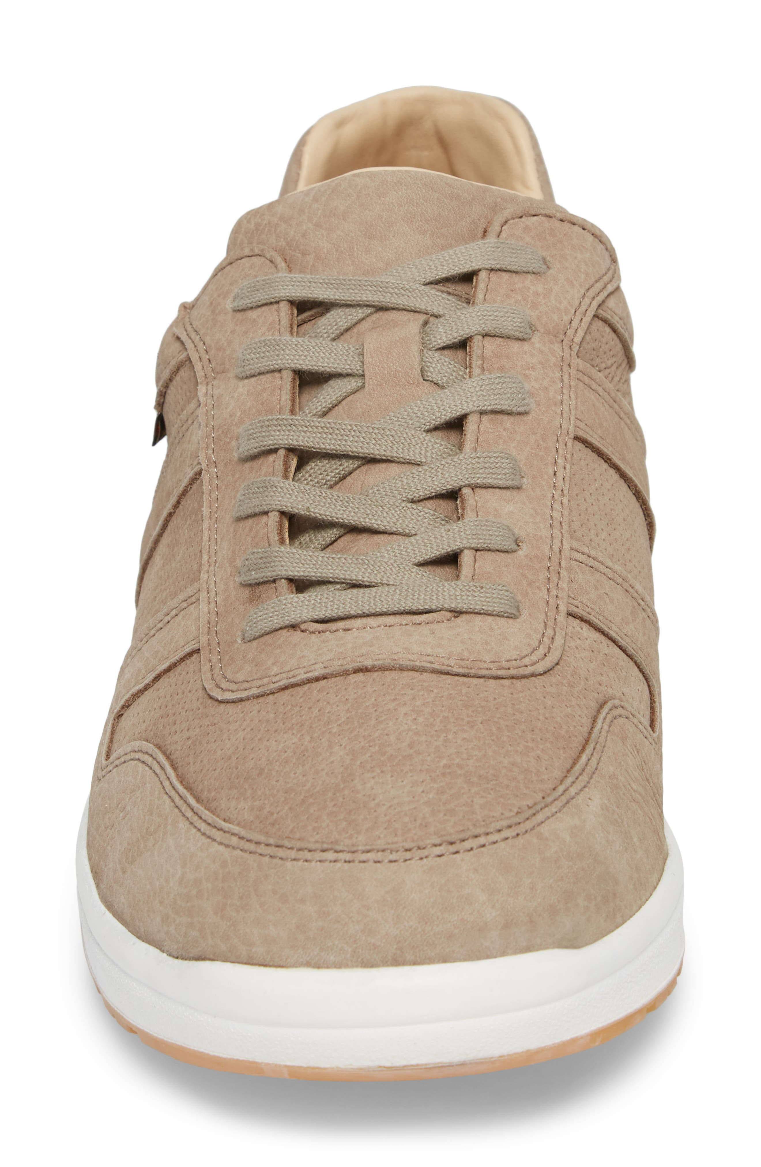 MEPHISTO, Vito Perforated Sneaker, Alternate thumbnail 4, color, SAND