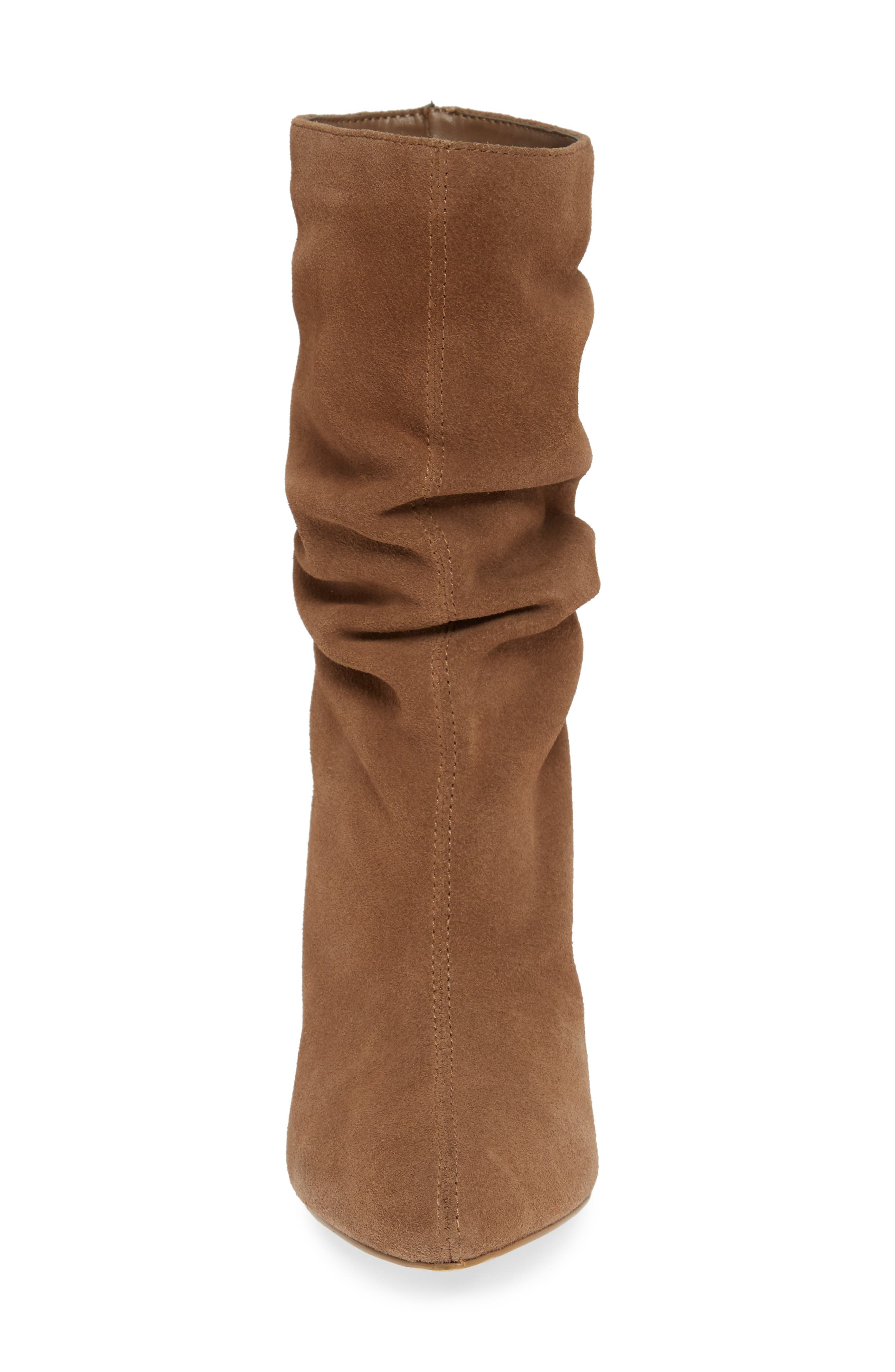 CHARLES BY CHARLES DAVID, Edell Slouchy Wedge Boot, Alternate thumbnail 4, color, TAUPE SUEDE