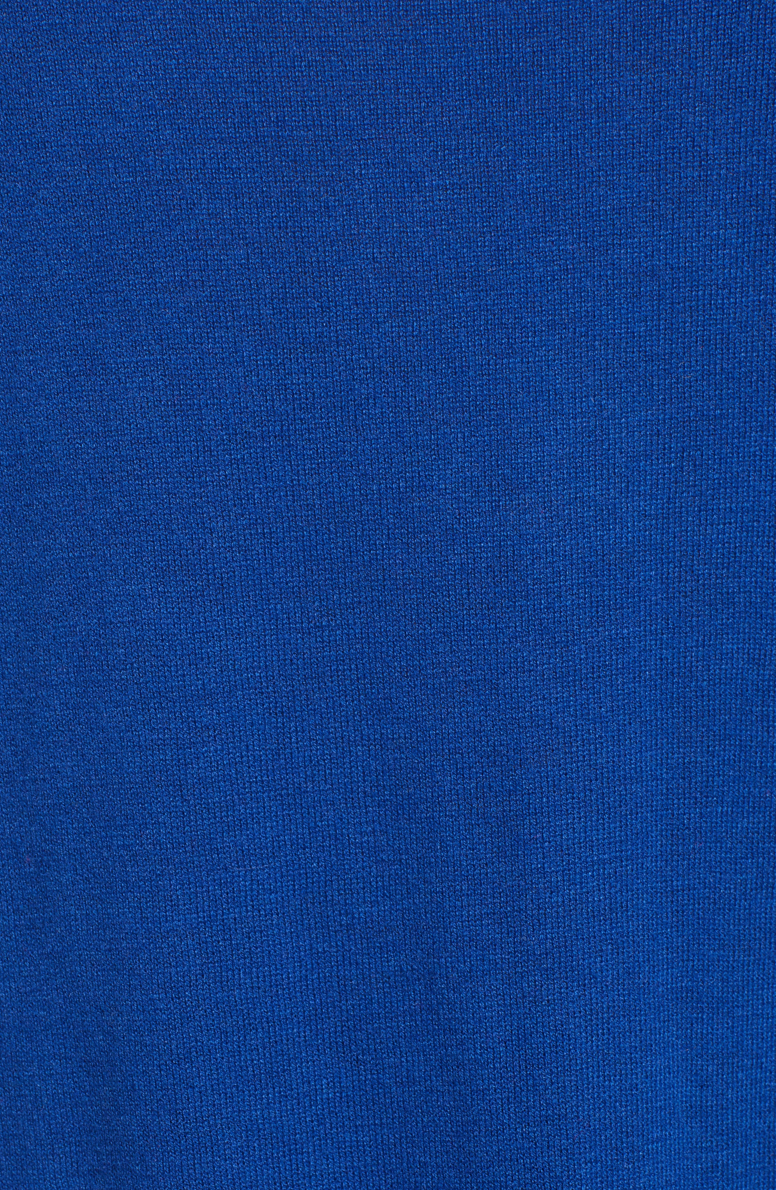 HALOGEN<SUP>®</SUP>, Crossover Front Knit Sweater, Alternate thumbnail 5, color, BLUE MAZARINE