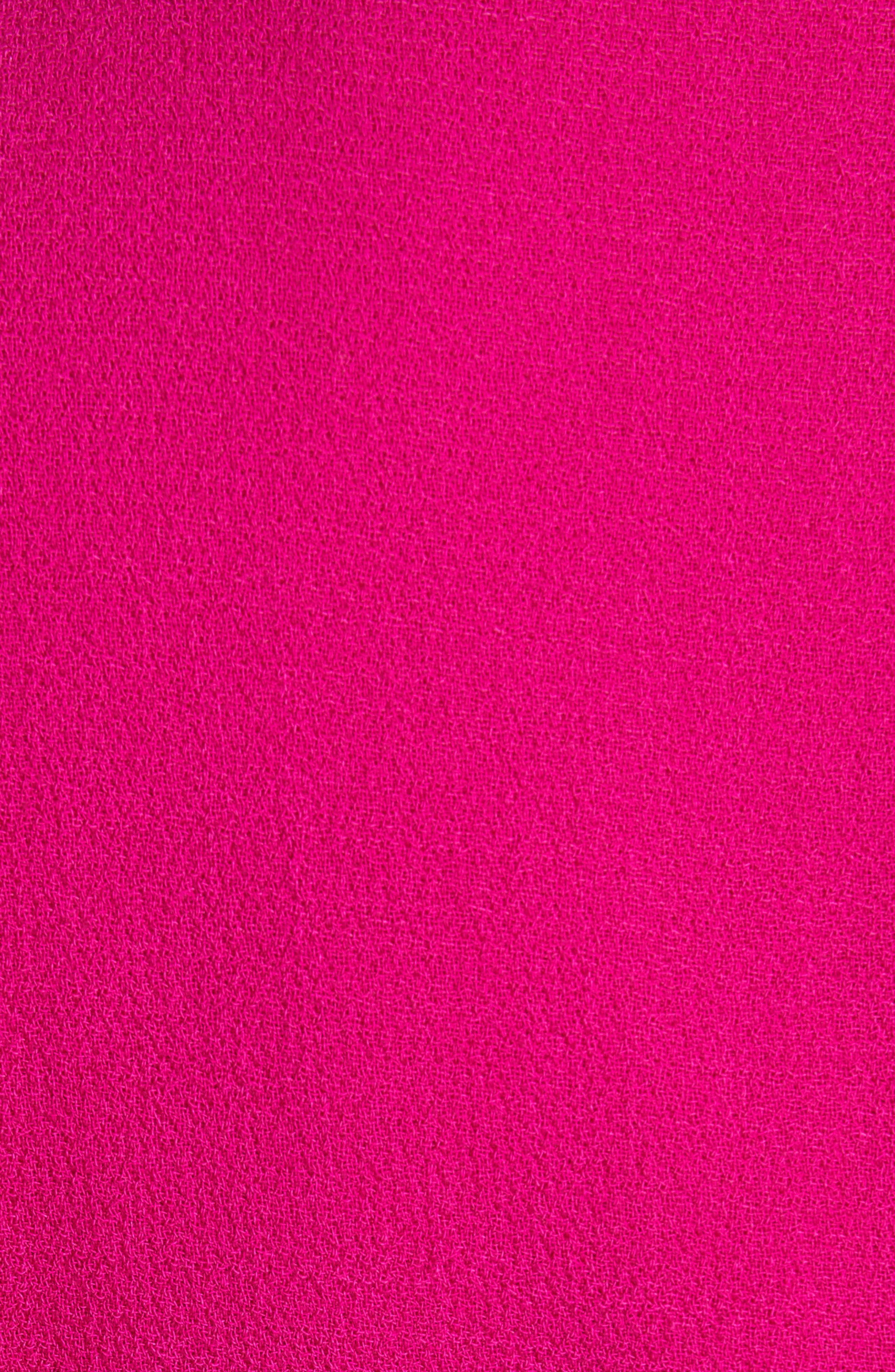BRANDON MAXWELL, Flutter Sleeve Sheath Dress, Alternate thumbnail 6, color, MAGENTA
