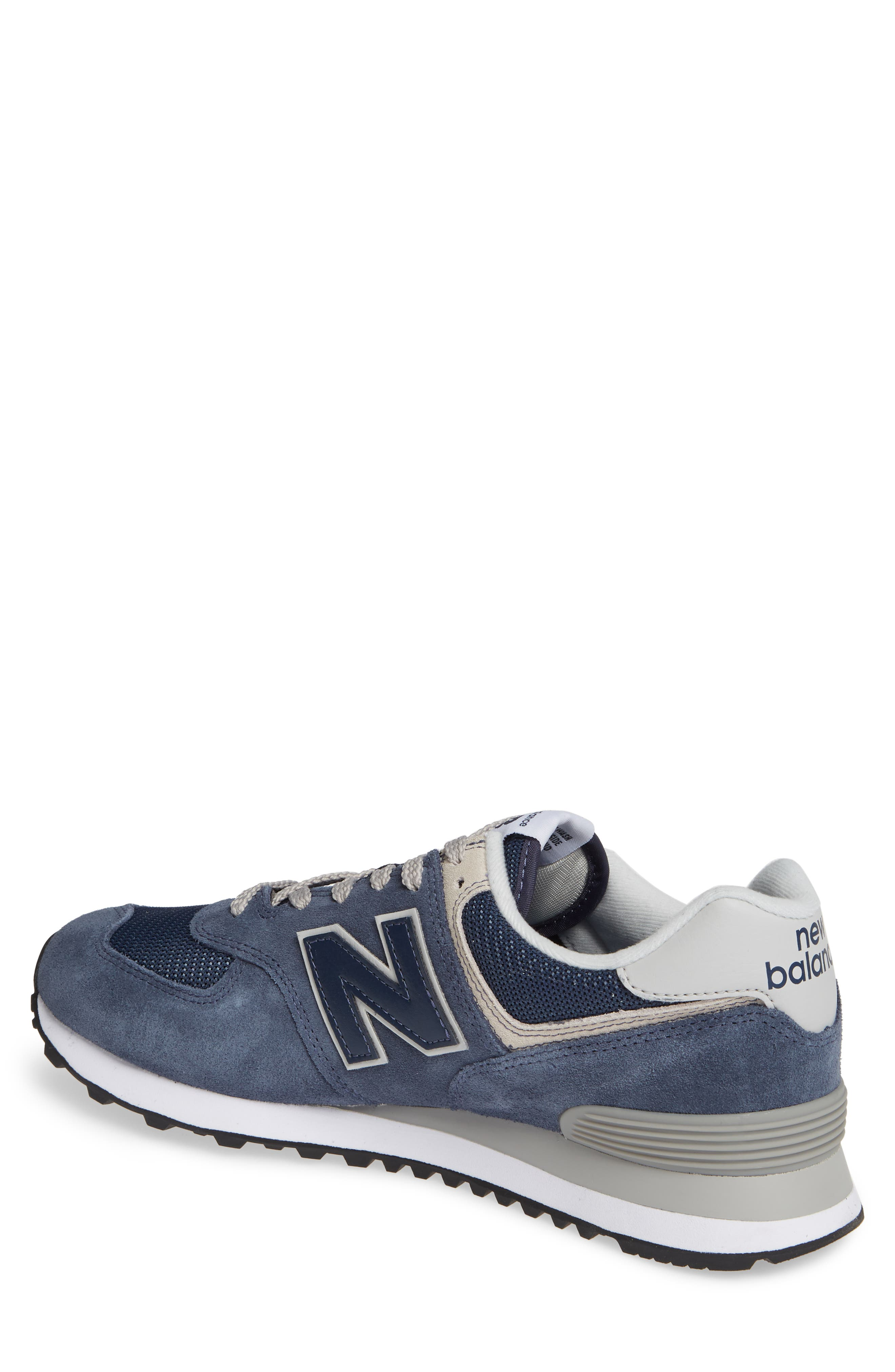 NEW BALANCE, 574 Classic Sneaker, Alternate thumbnail 2, color, BLACK IRIS