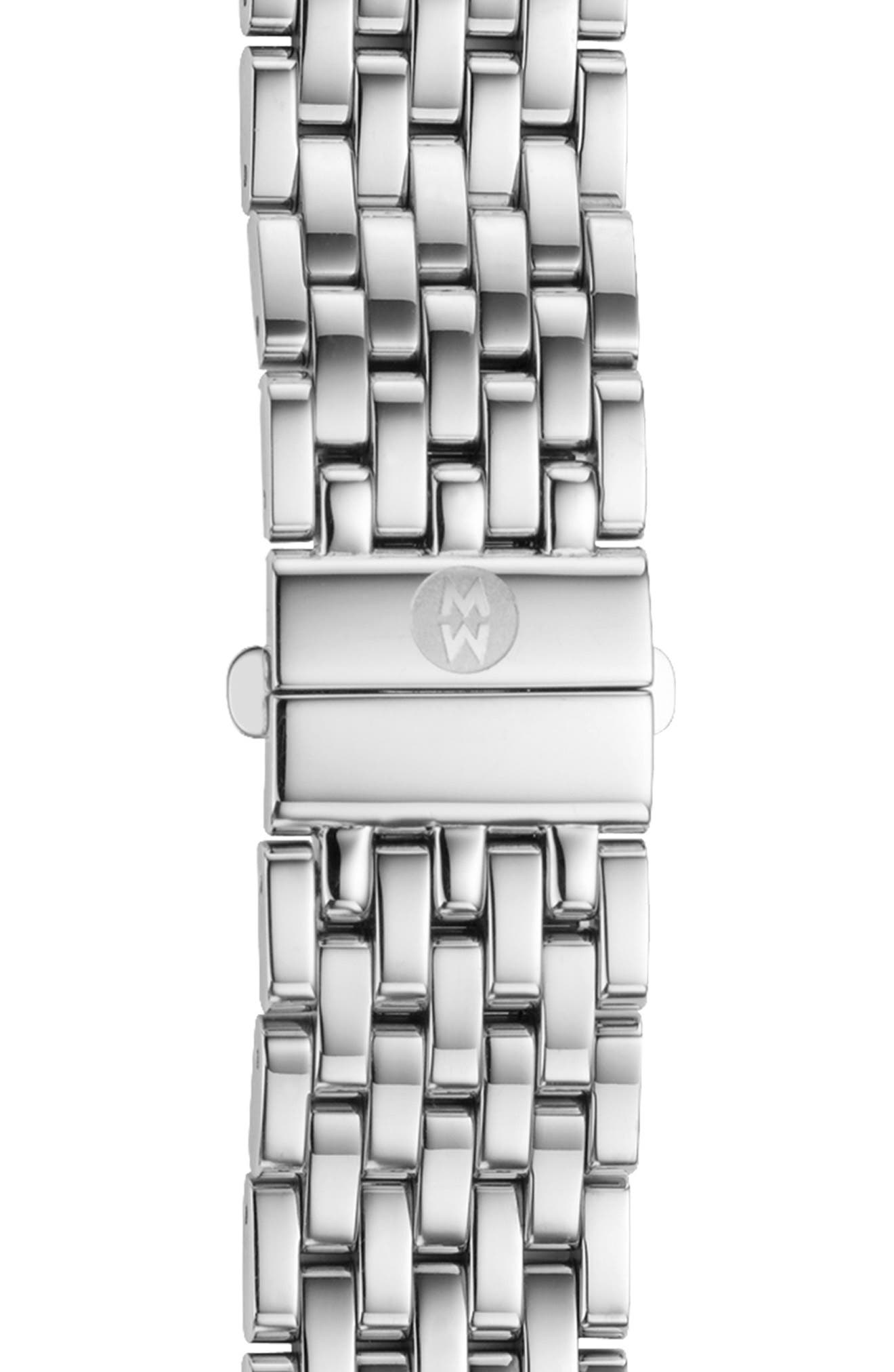 MICHELE Deco 16 16mm Bracelet Watchband, Main, color, SILVER