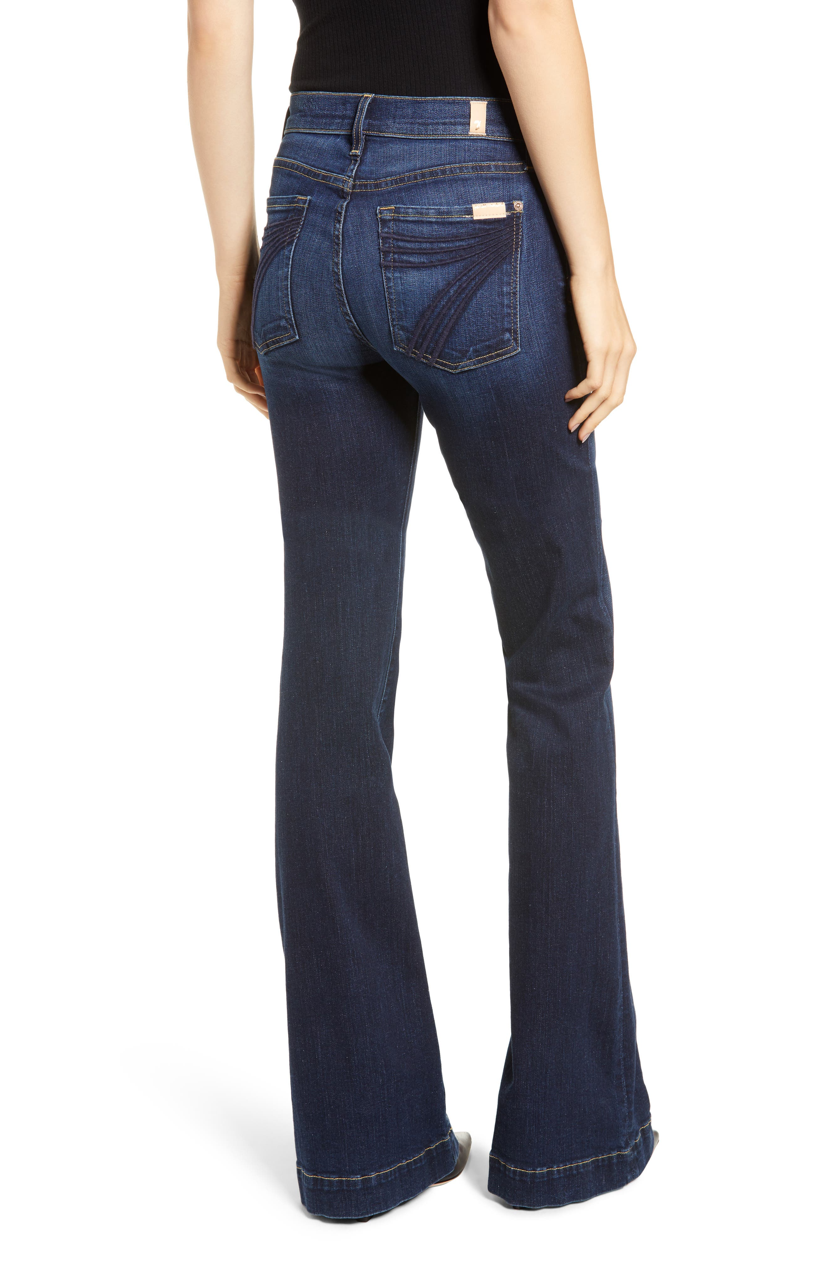 7 FOR ALL MANKIND<SUP>®</SUP>, Dojo Wide Leg Jeans, Alternate thumbnail 2, color, AUTHENTIC FATE