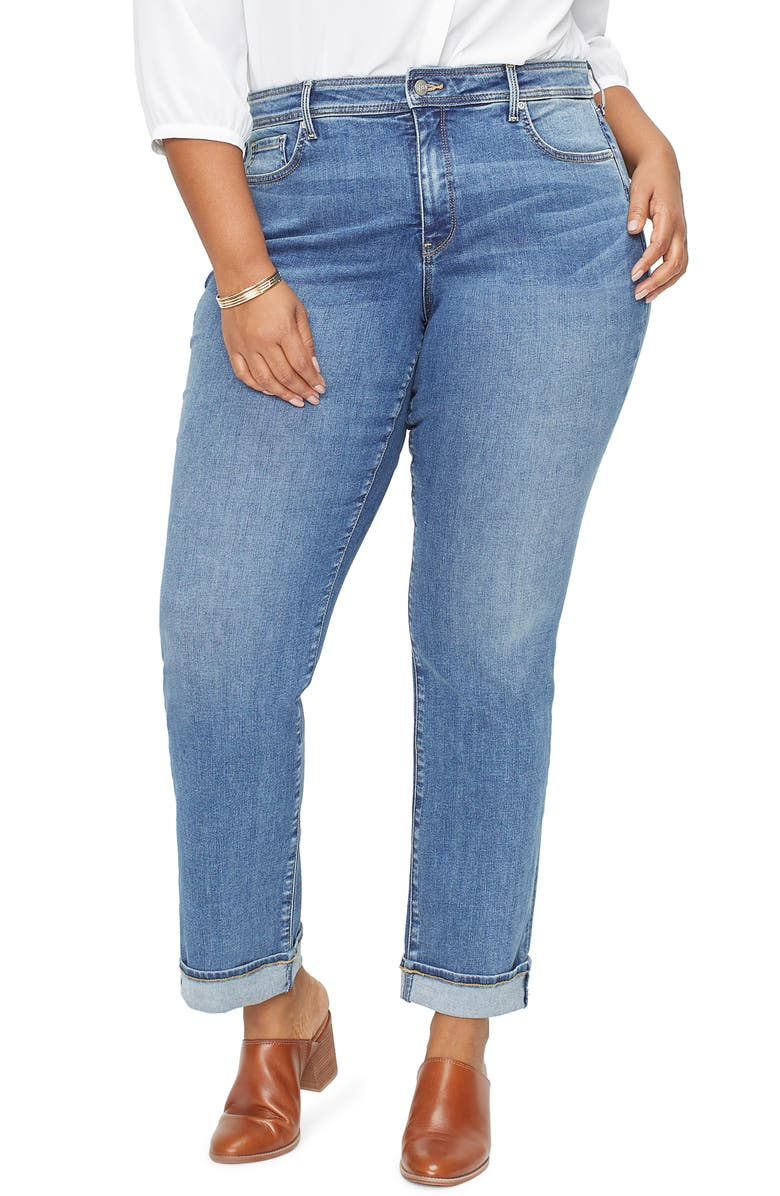 Nydj MARILYN CUFFED STRAIGHT LEG JEANS