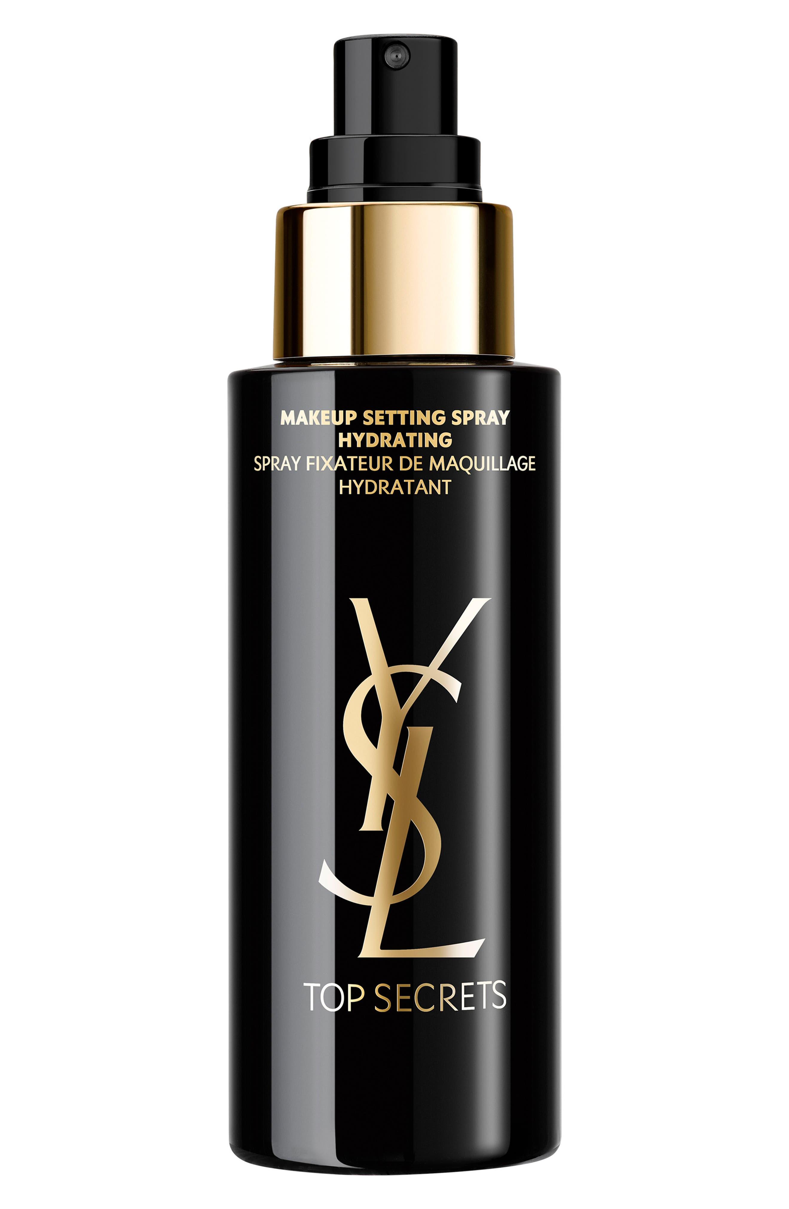YVES SAINT LAURENT Top Secrets Glow Perfecting Makeup Setting Spray, Main, color, NO COLOR