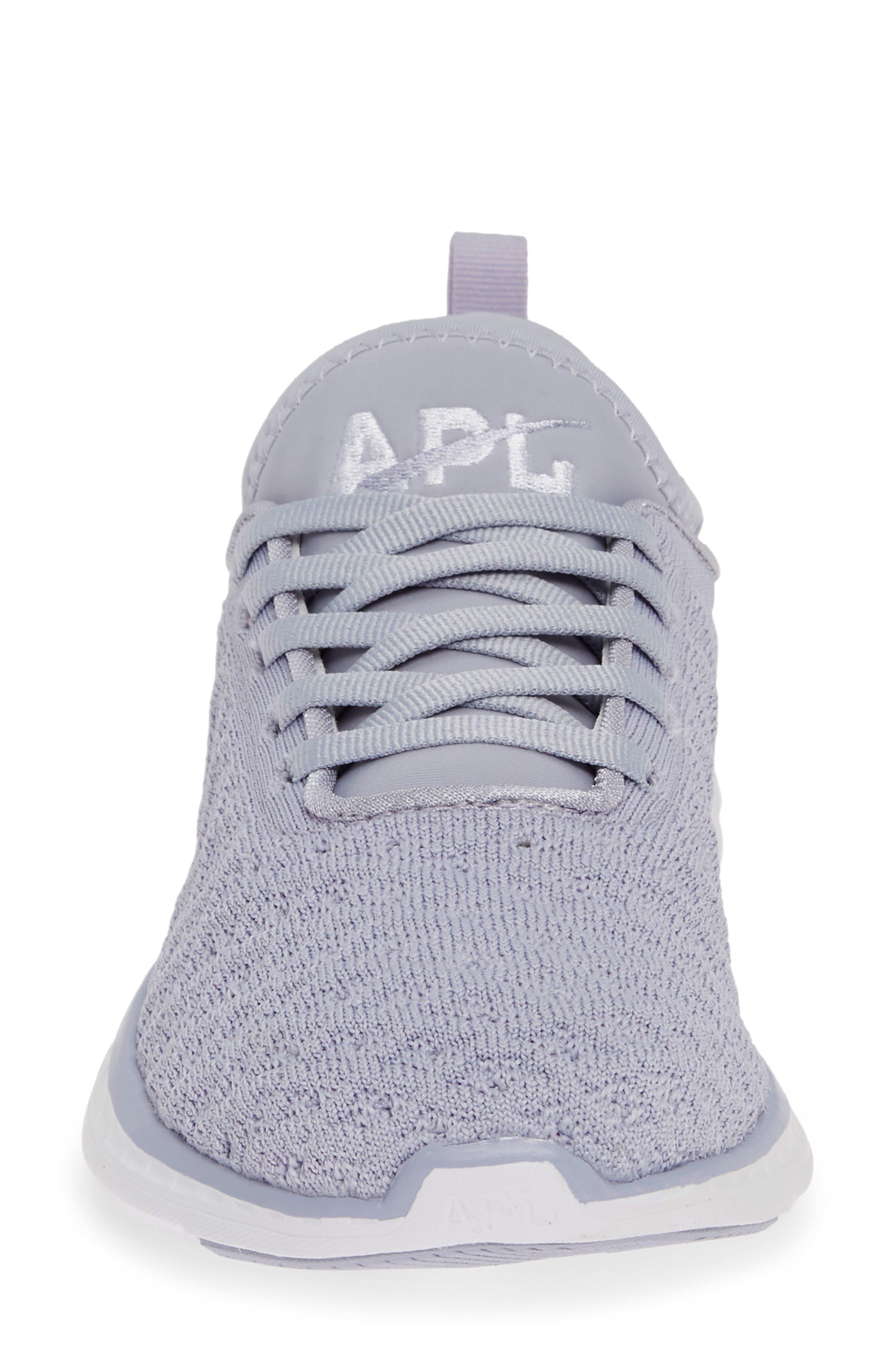 APL, TechLoom Phantom Running Shoe, Alternate thumbnail 4, color, FADED LAVENDER/ WHITE
