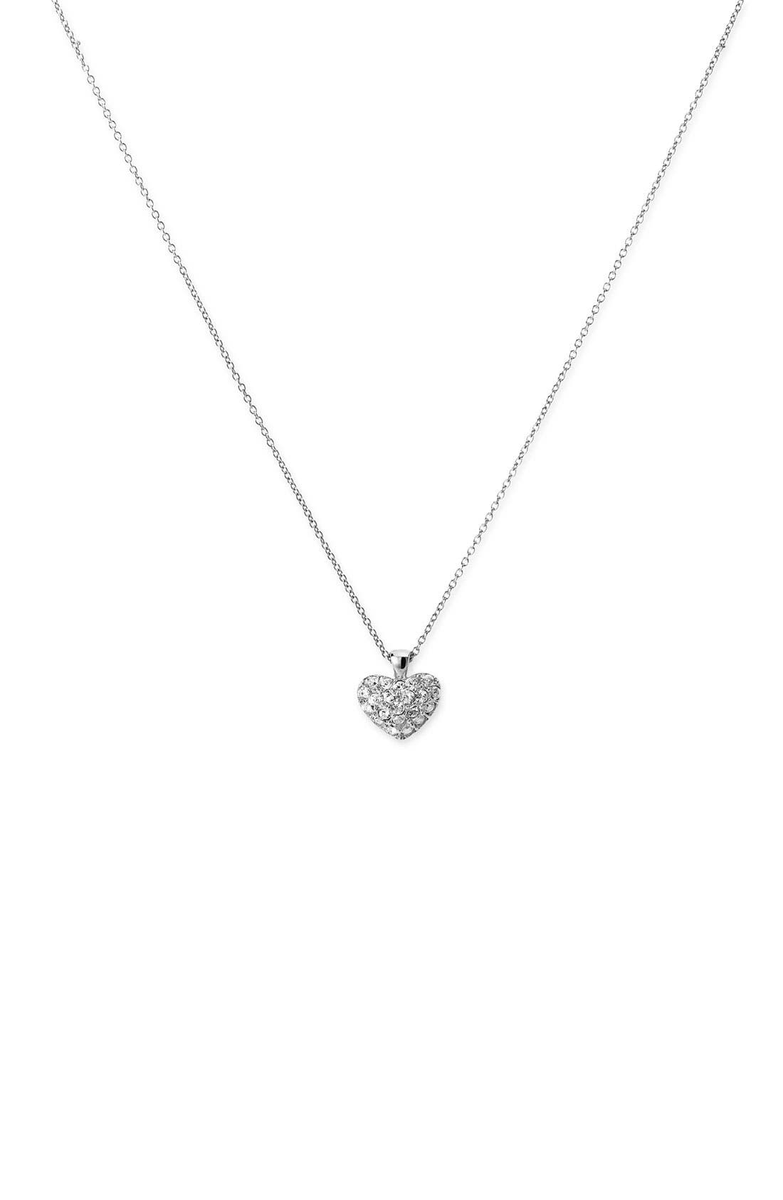 NORDSTROM, Crystal Collection Heart Pendant Necklace, Main thumbnail 1, color, 040