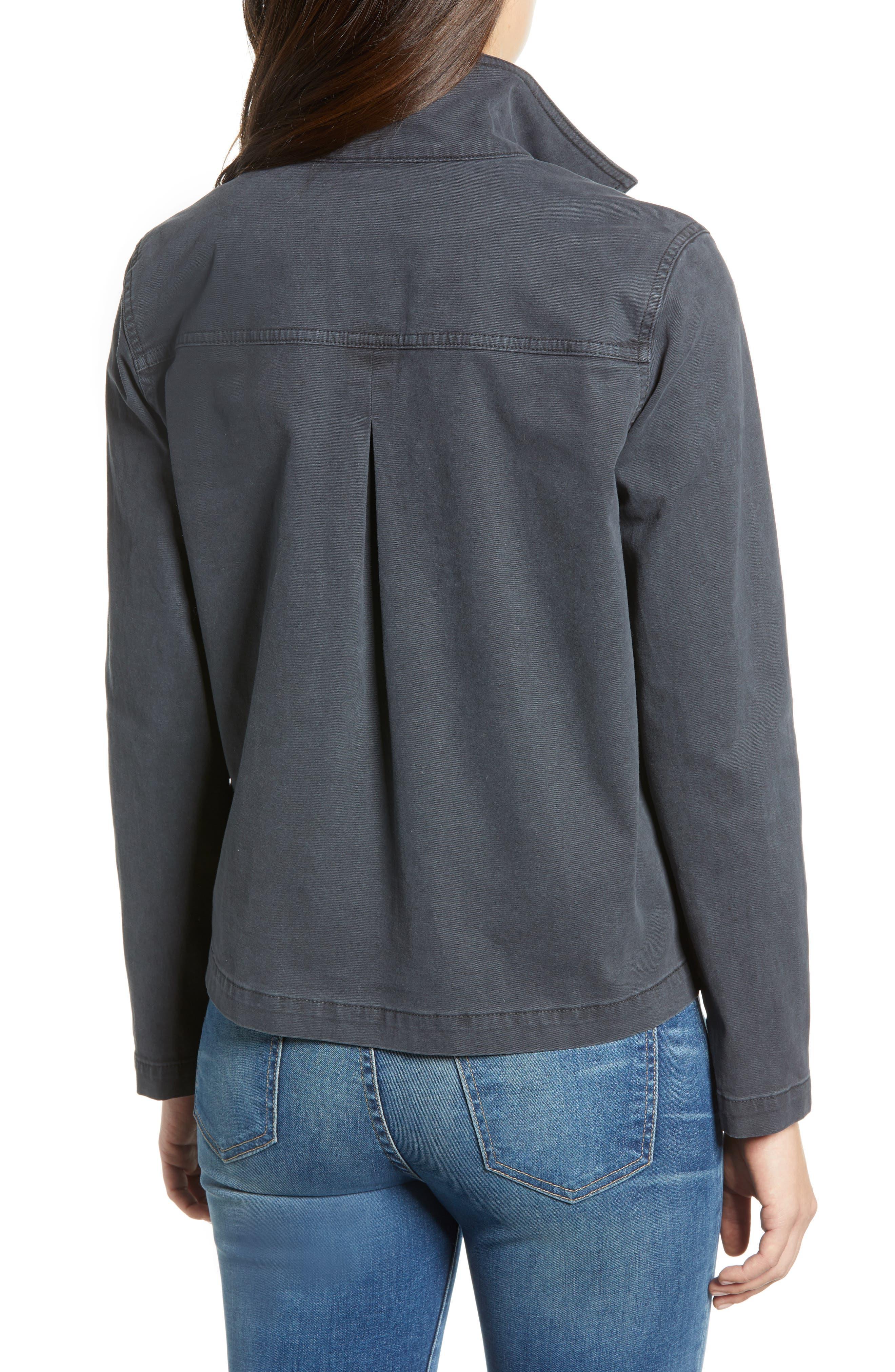 CASLON<SUP>®</SUP>, Short Utility Jacket, Alternate thumbnail 2, color, GREY EBONY