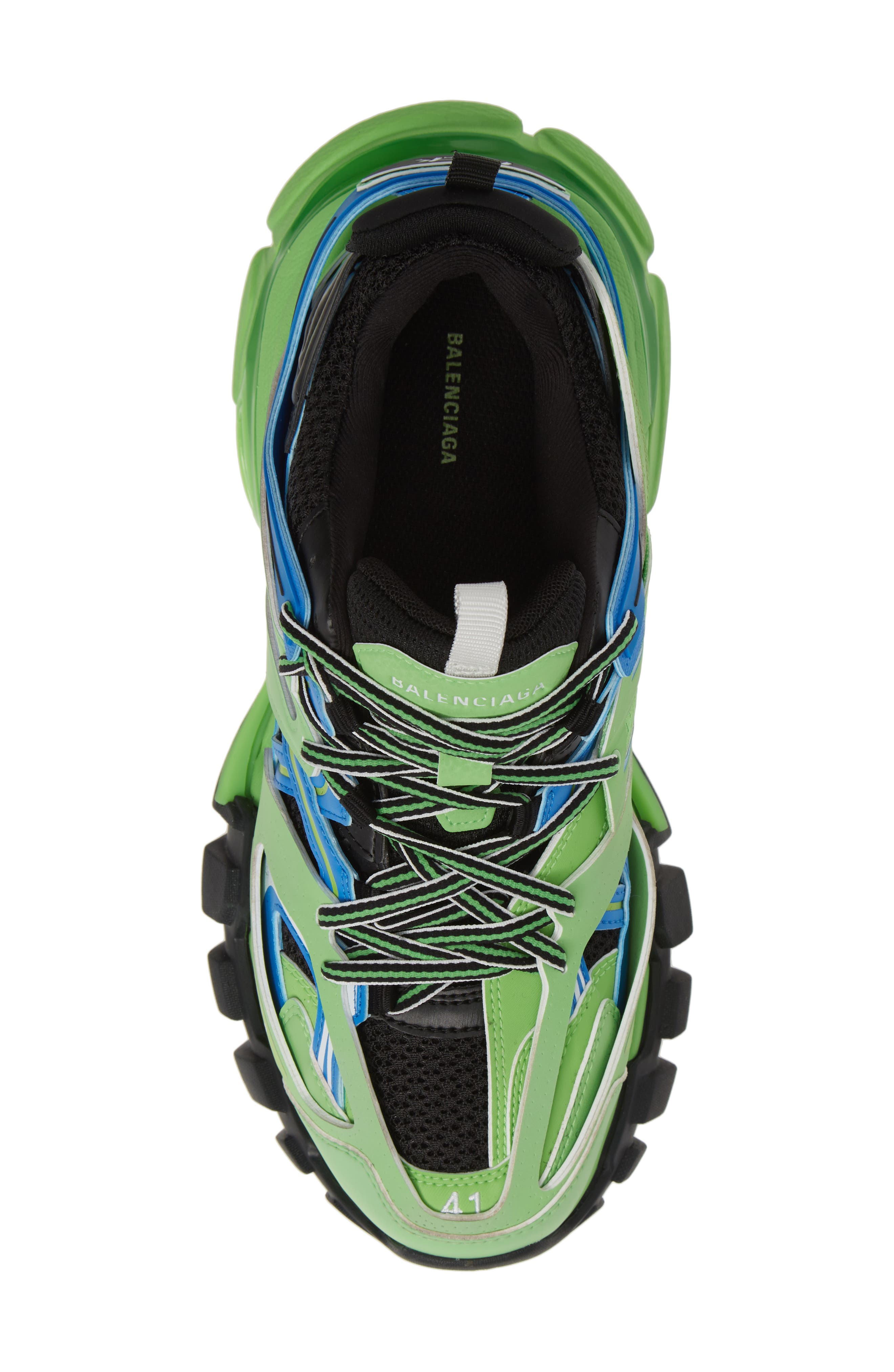 BALENCIAGA, Track Sneaker, Alternate thumbnail 5, color, 4078 BLUE/ GREEN