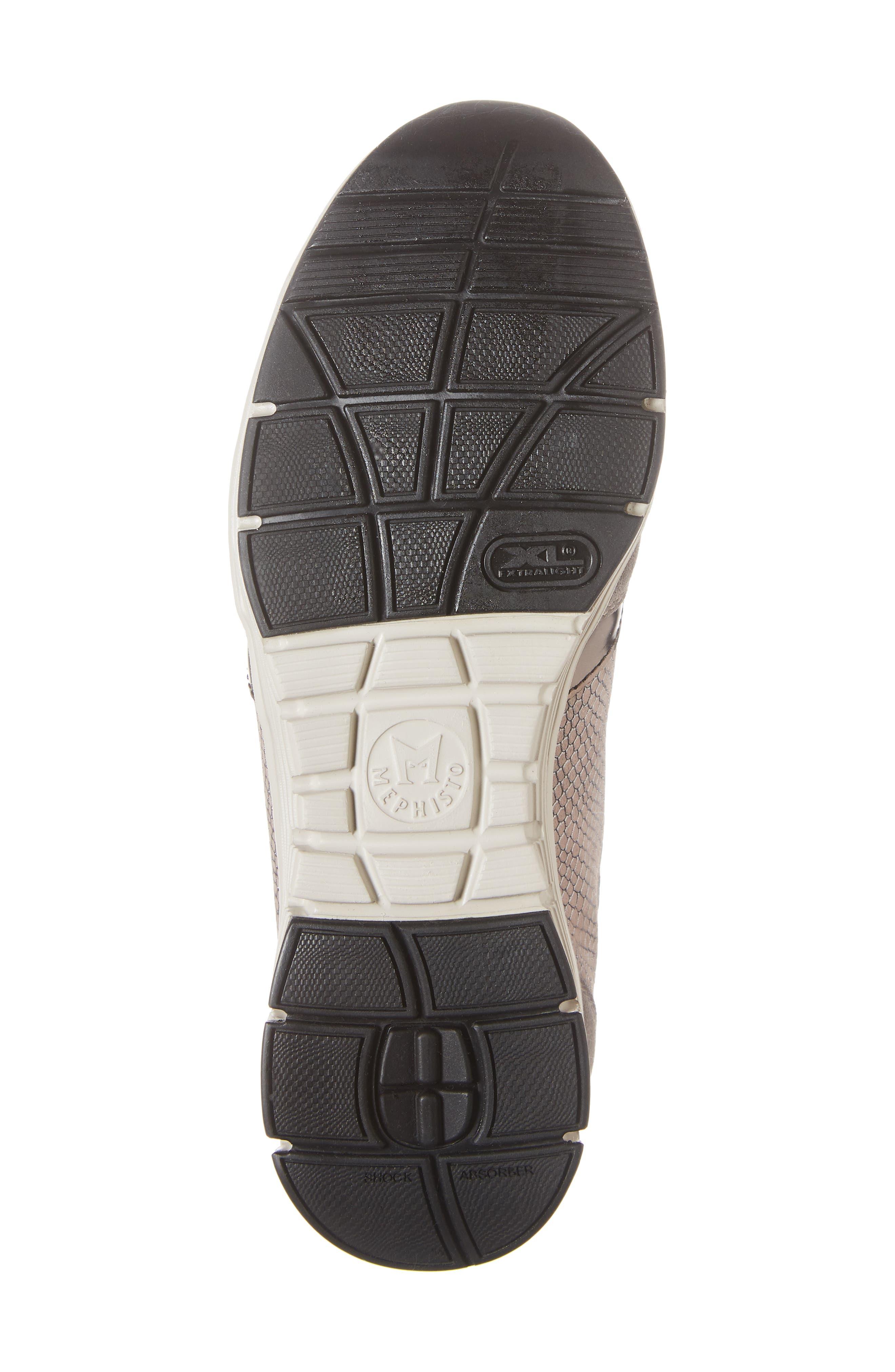 MEPHISTO, Ylona Sneaker, Alternate thumbnail 6, color, DARK GREY SUEDE