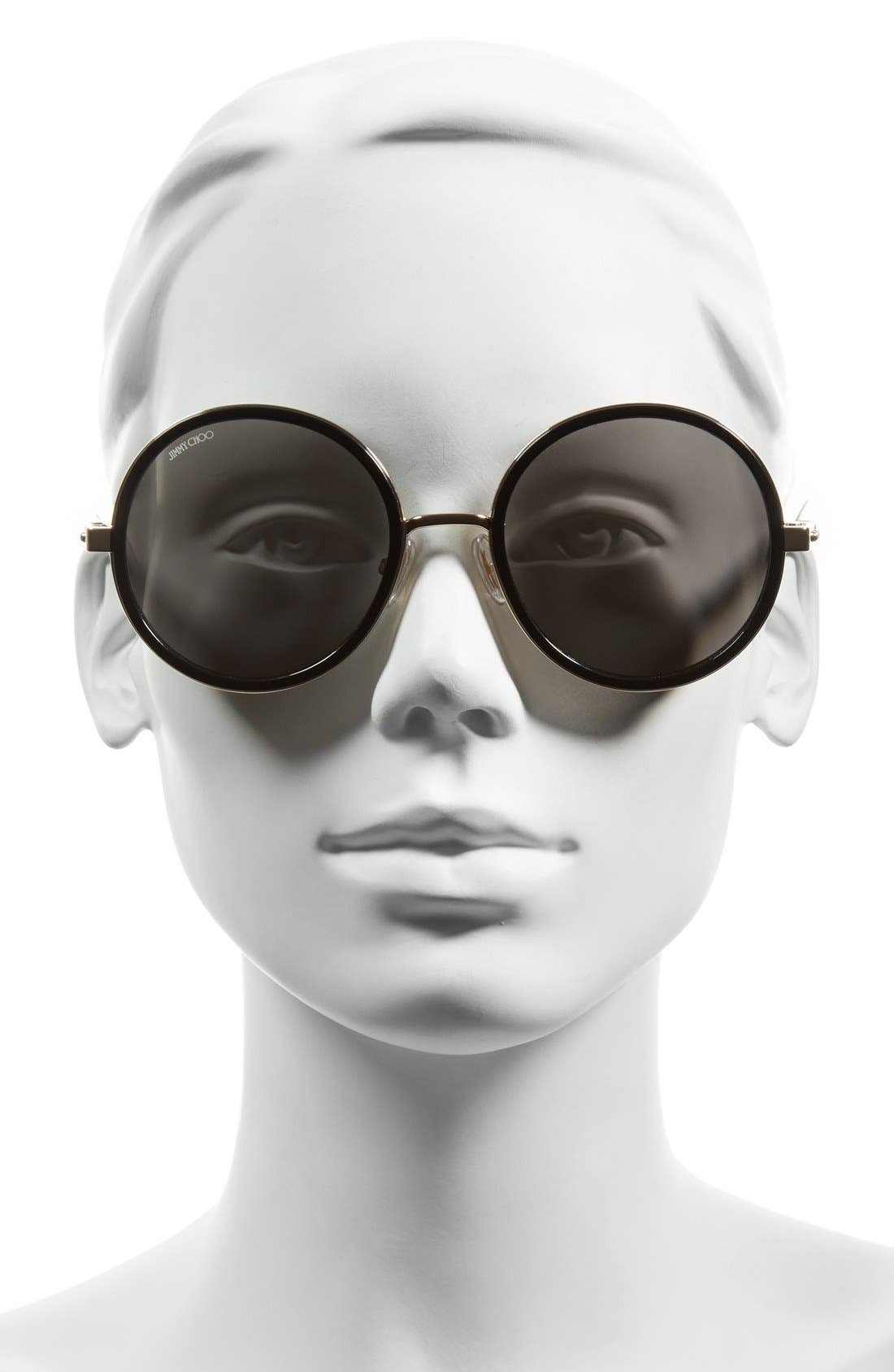 JIMMY CHOO, 'Andies' 54mm Round Sunglasses, Alternate thumbnail 2, color, 711