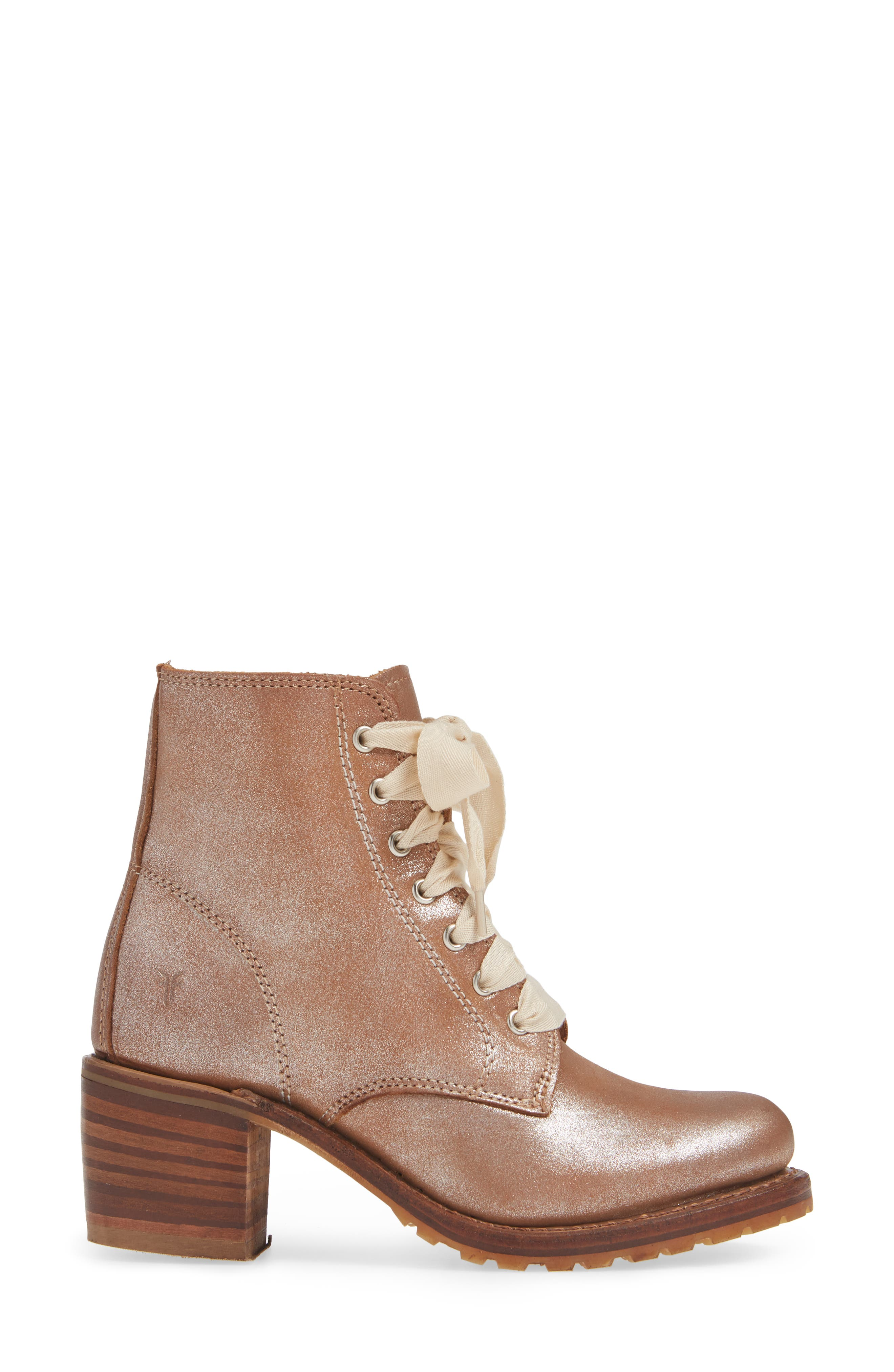 FRYE, 'Sabrina' Boot, Alternate thumbnail 3, color, SILVER LEATHER