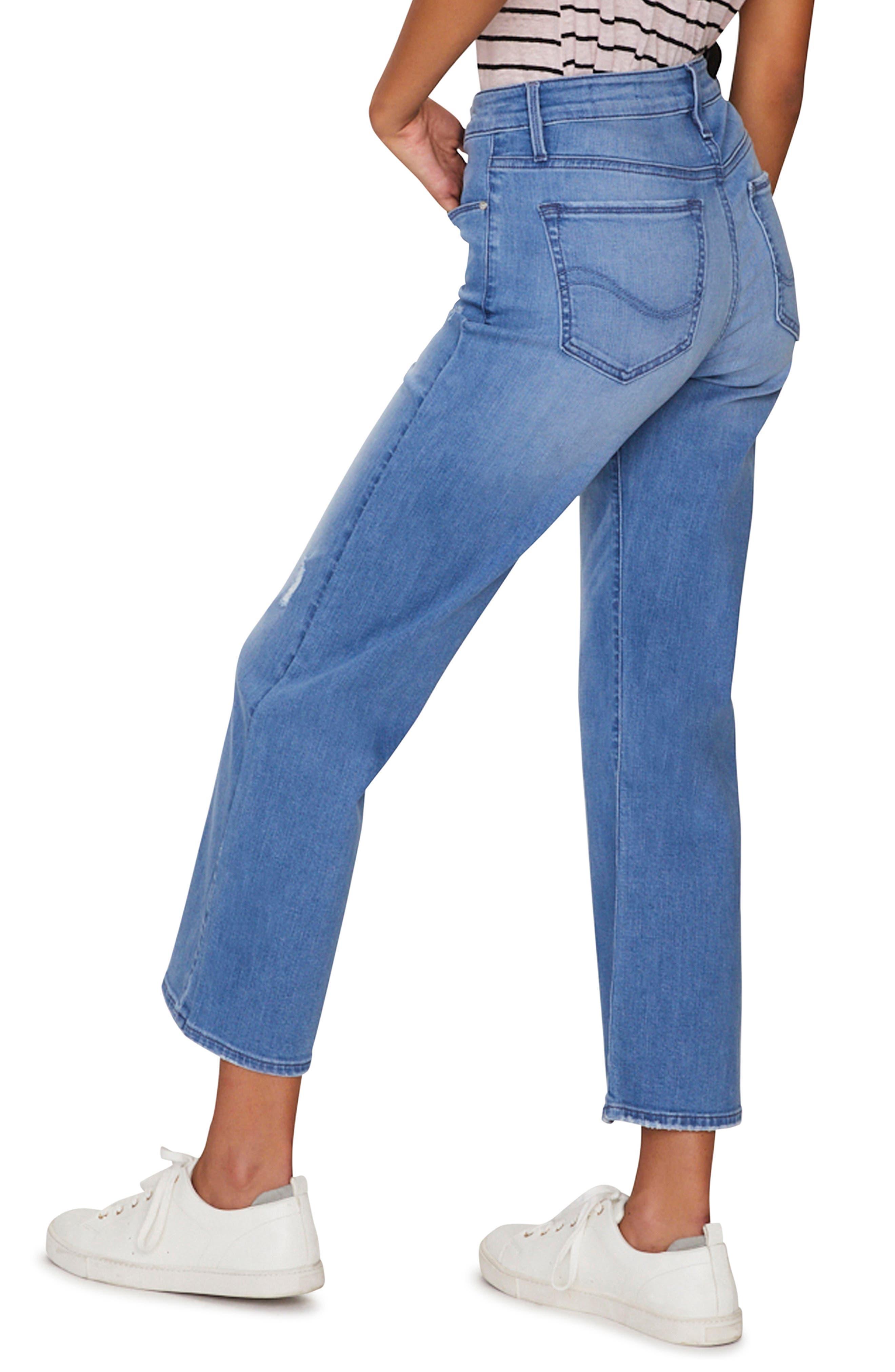 SANCTUARY, Non Comformist Wide Leg Crop Jeans, Alternate thumbnail 3, color, SOLANO BLUE