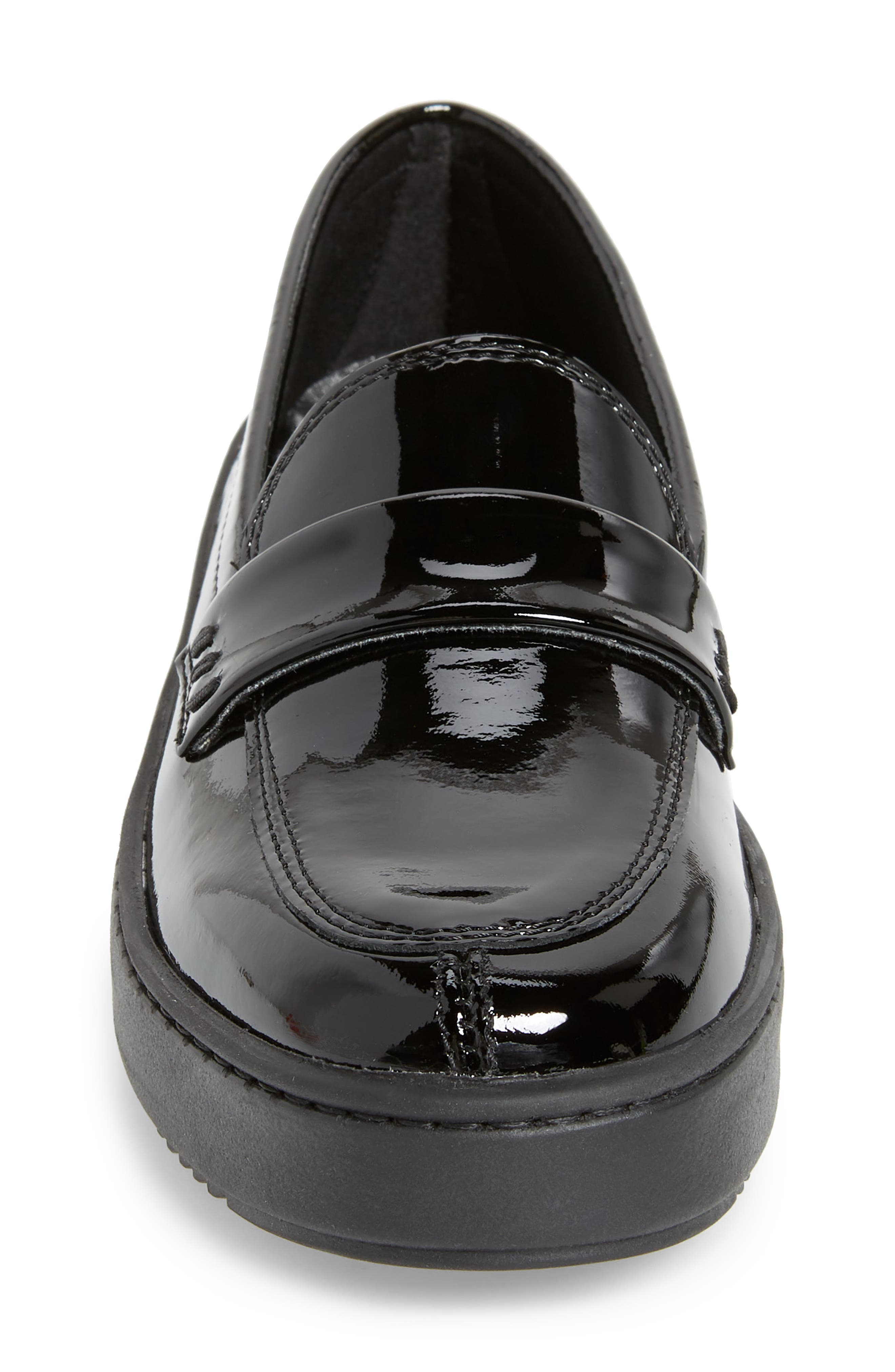 THE FLEXX, No Loaf N Loafer, Alternate thumbnail 4, color, BLACK PATENT LEATHER
