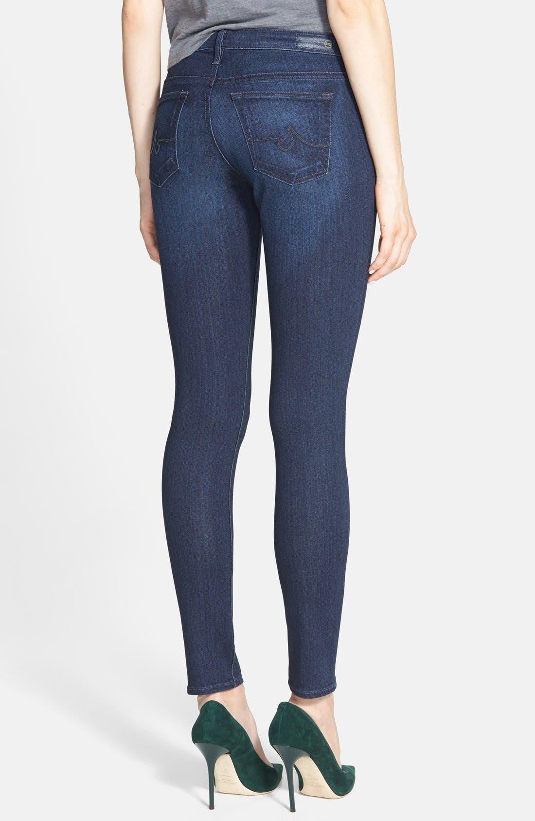 AG, The Legging Ankle Super Skinny Jeans, Alternate thumbnail 9, color, COAL BLUE