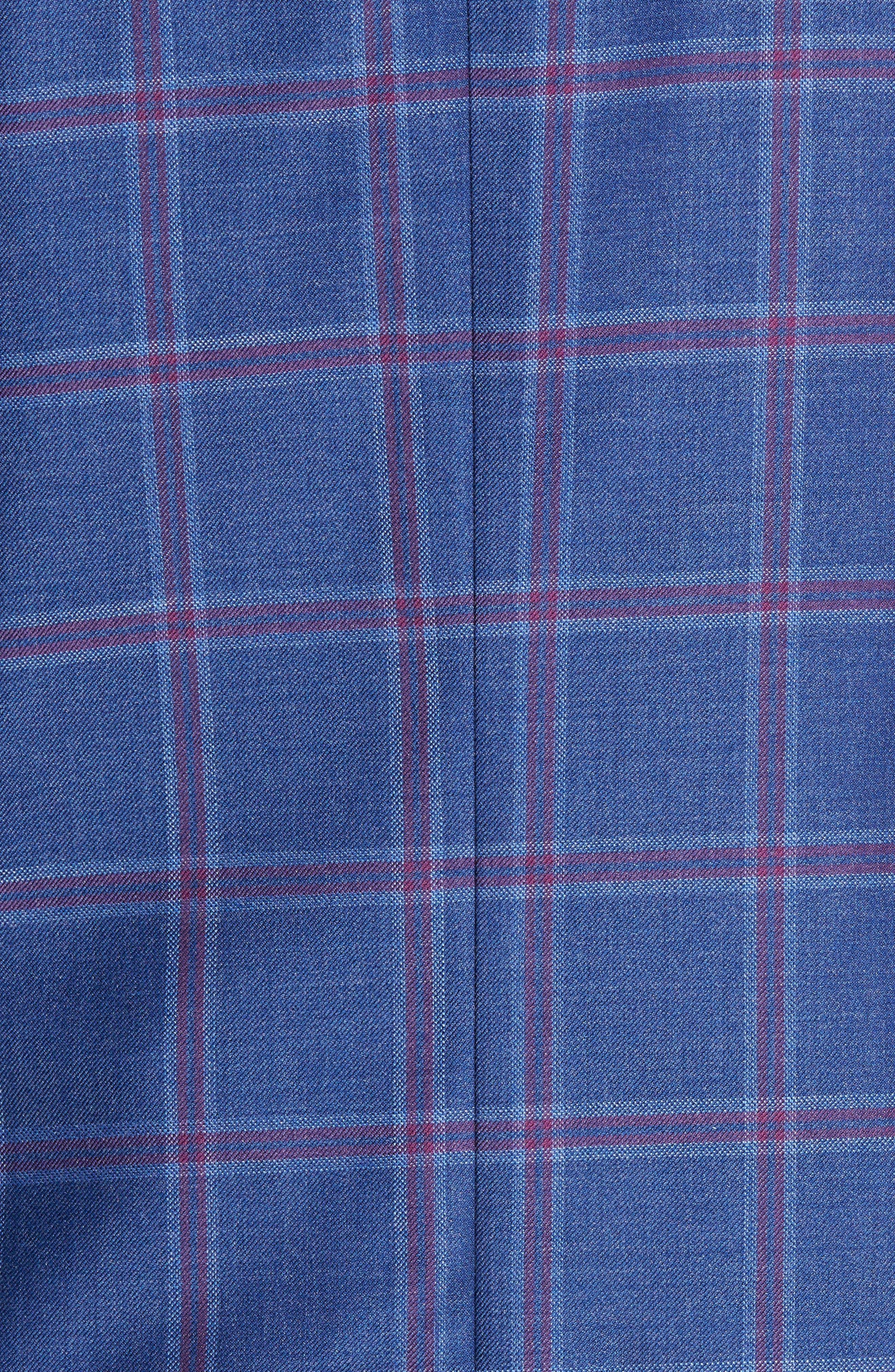 TED BAKER LONDON, Konan Trim Fit Wool Sport Coat, Alternate thumbnail 6, color, BLUE