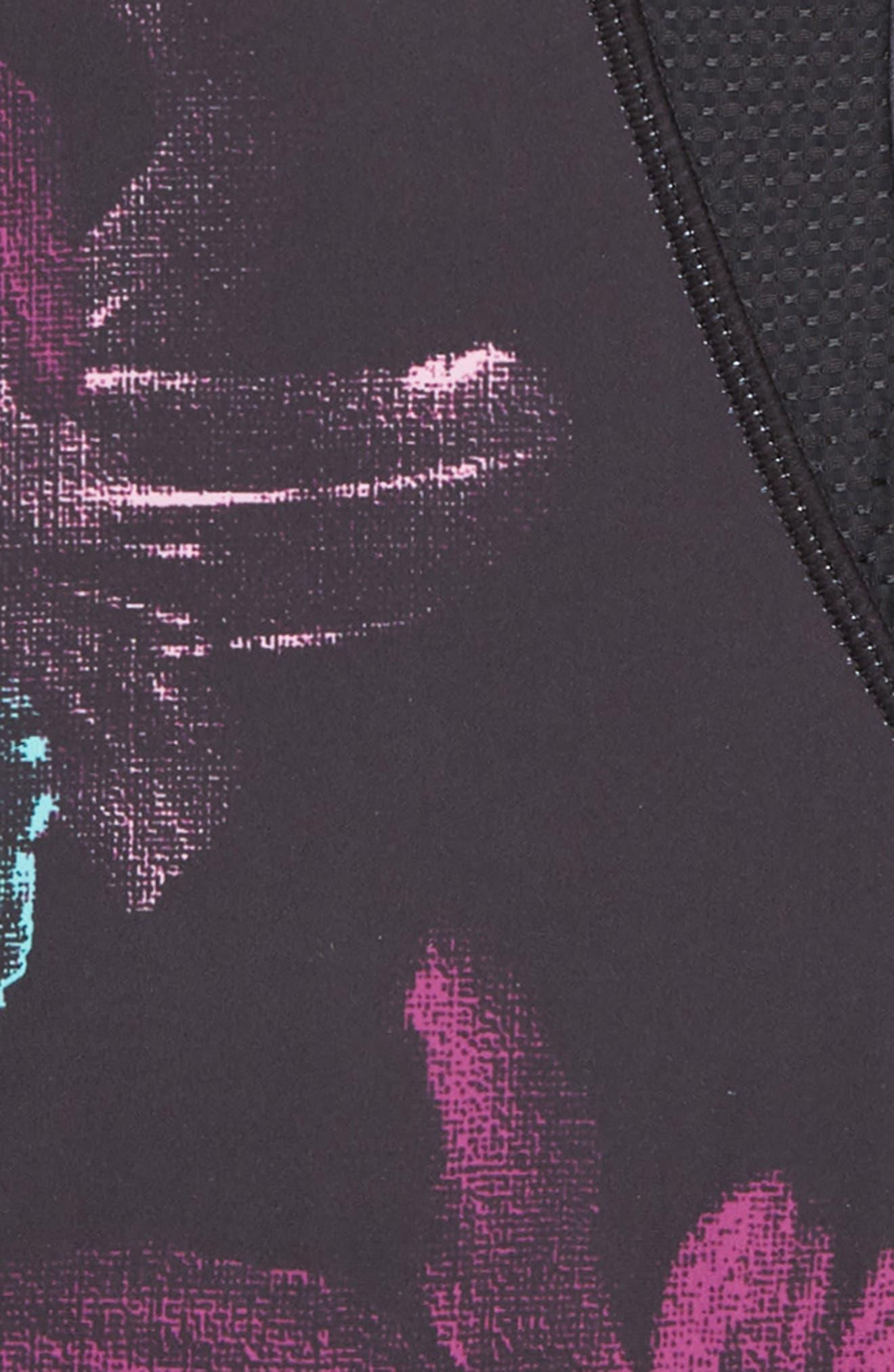 ZELLA GIRL, Halo Two-Piece Swimsuit, Alternate thumbnail 2, color, BLACK- PURPLE DARK FLORAL