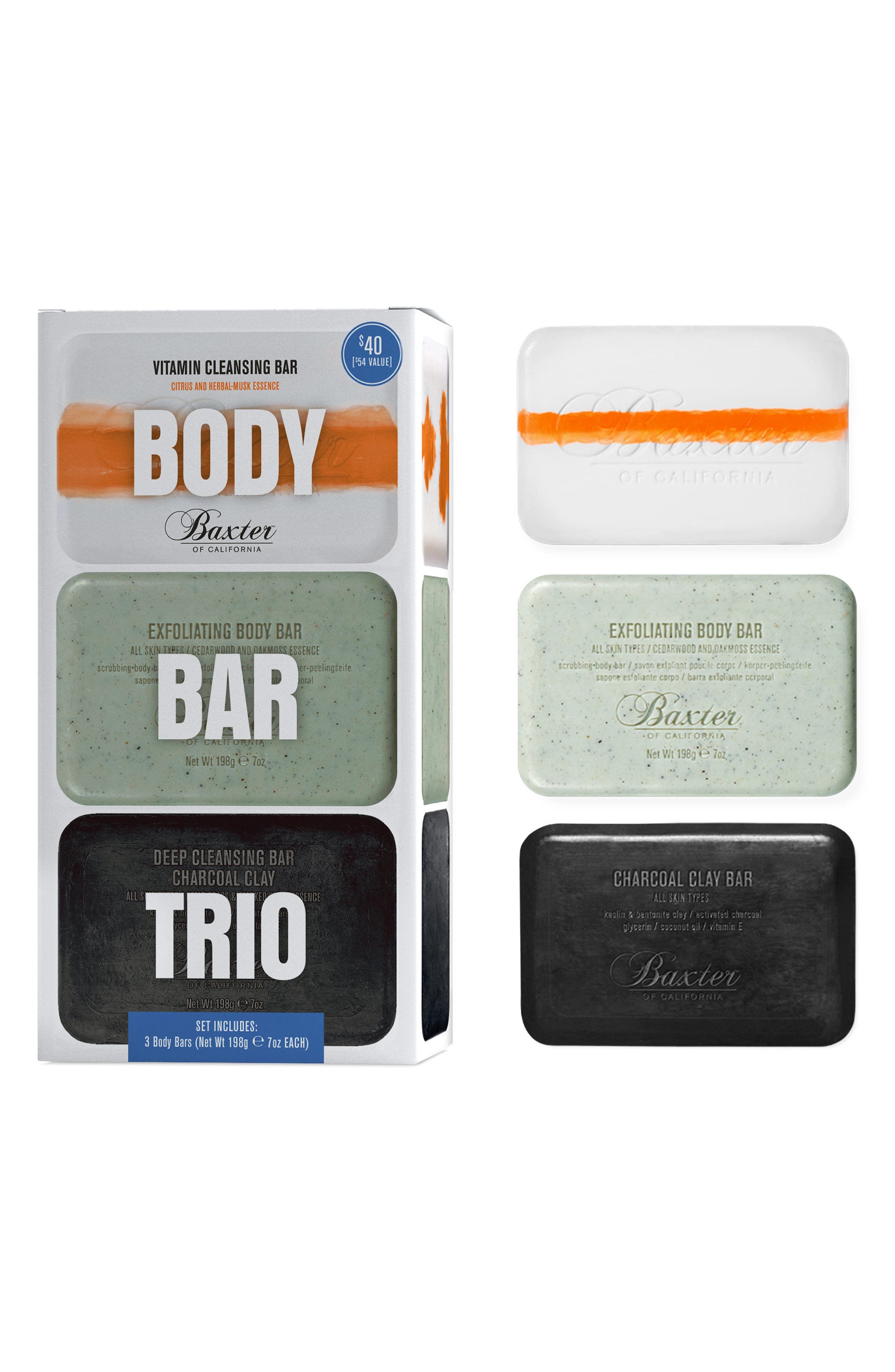 BAXTER OF CALIFORNIA Body Bar Trio, Main, color, NO COLOR