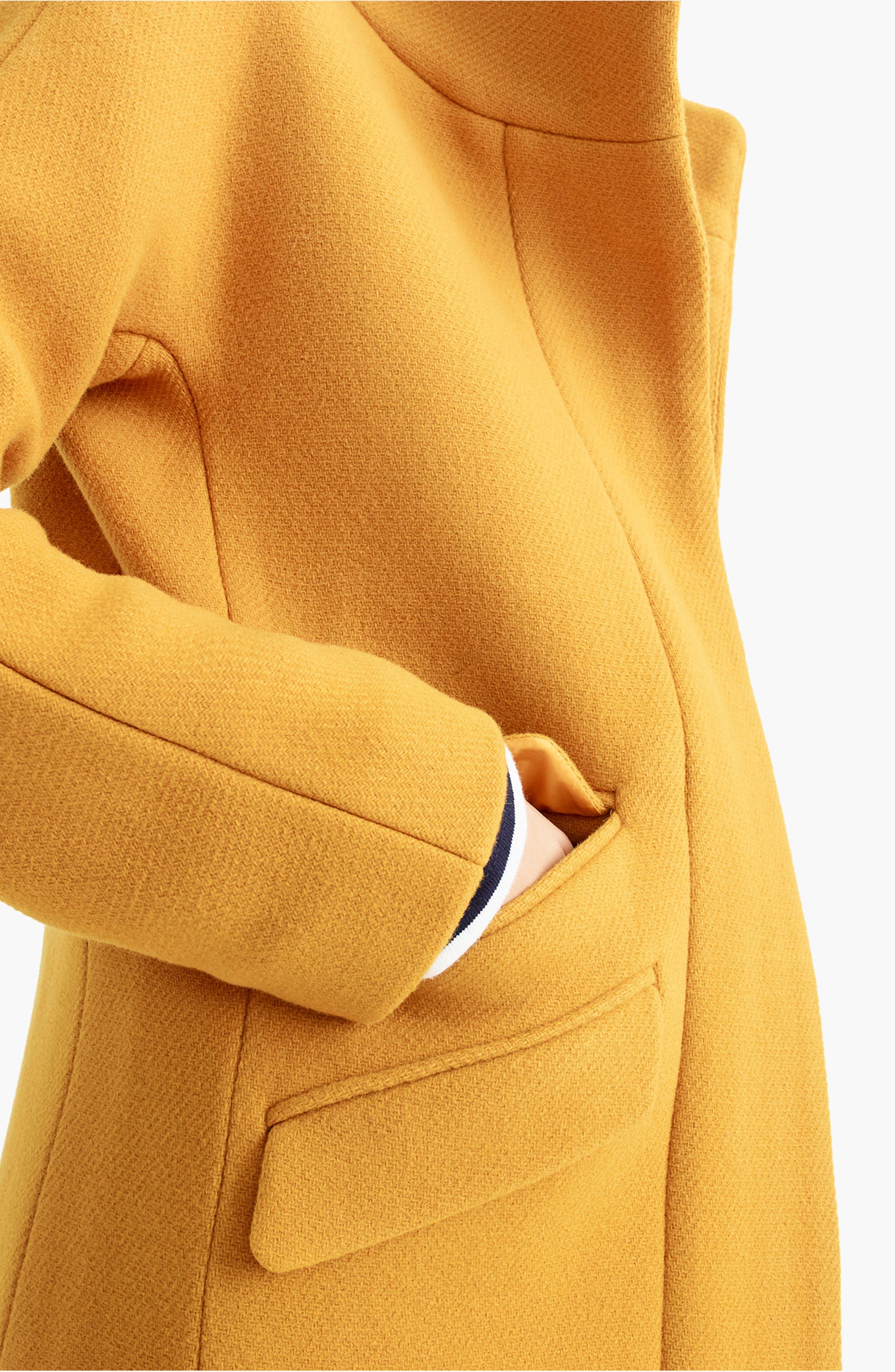 J.CREW, Stadium Cloth Cocoon Coat, Alternate thumbnail 6, color, 800