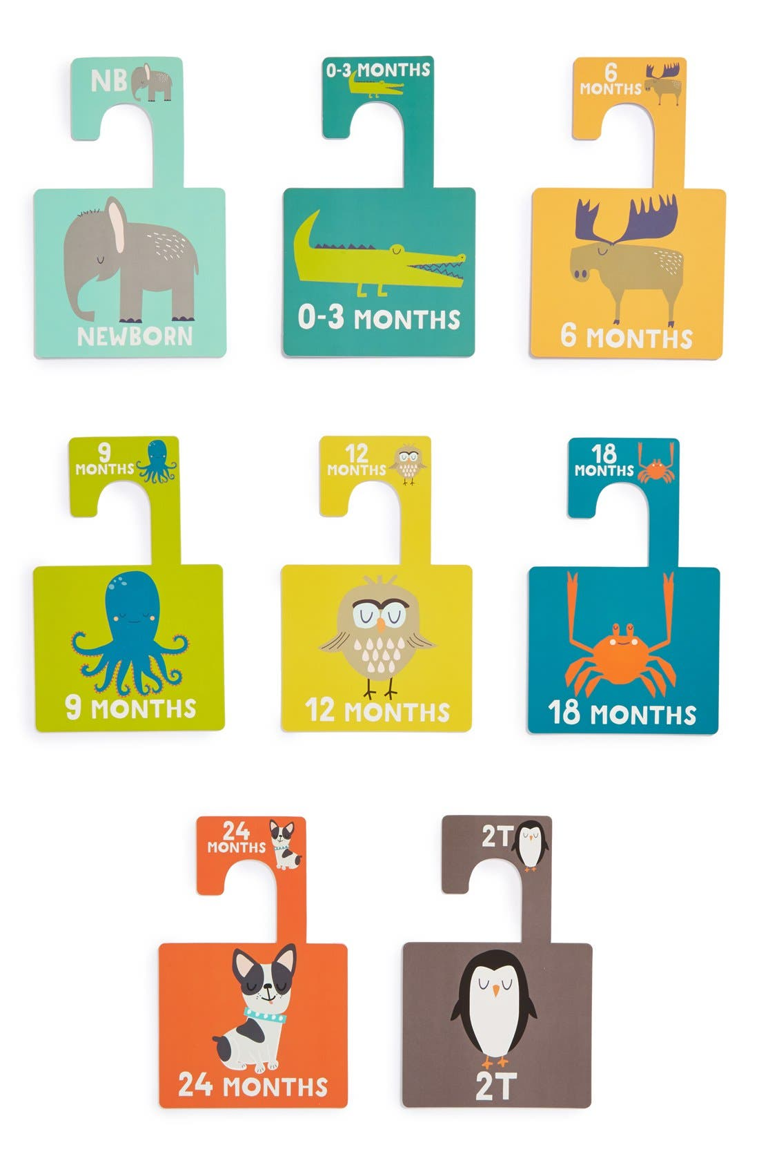 LUCY DARLING, 'Little Animal Lover' Closet Dividers, Alternate thumbnail 2, color, 300