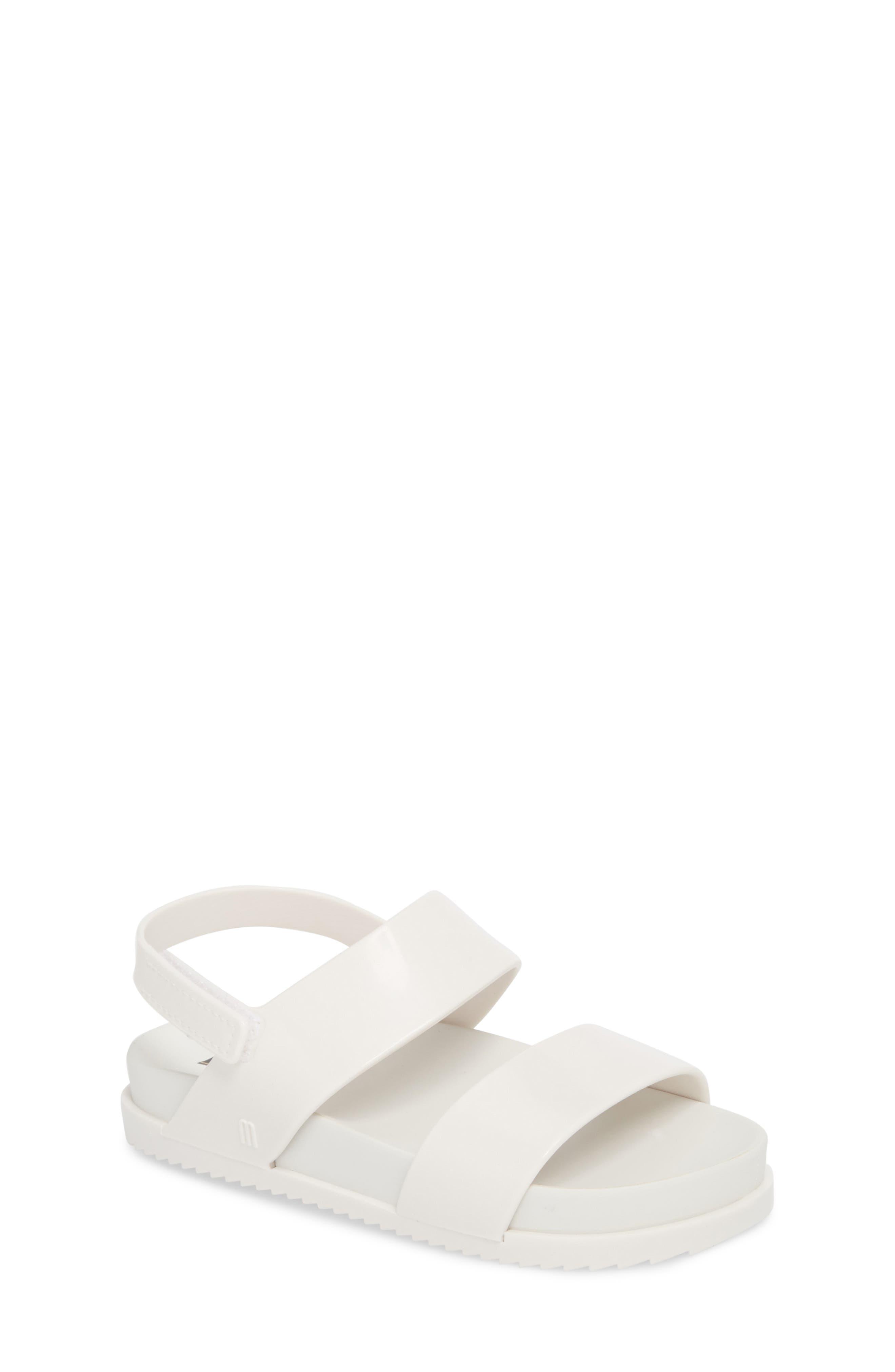 Toddler Girls Mini Melissa Glittery Cosmic Sandal Size 5 M  White