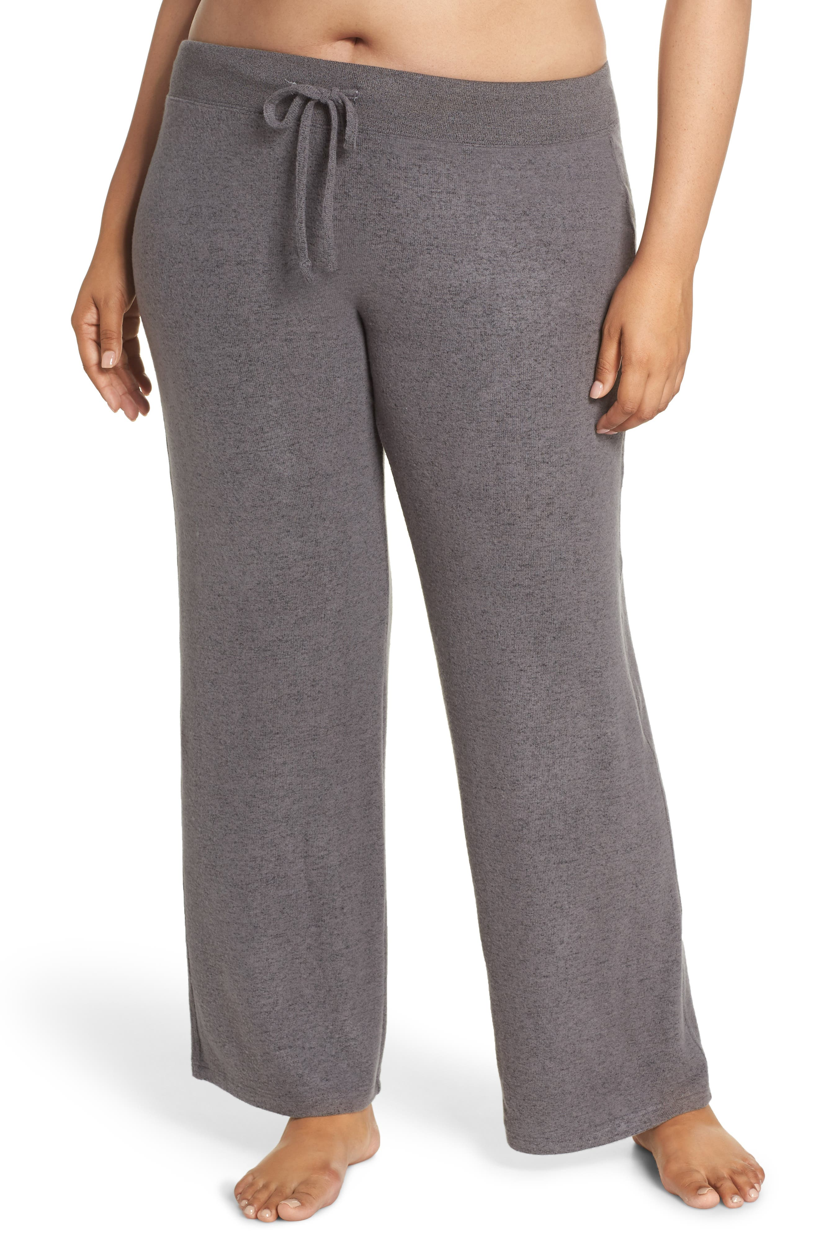 MAKE + MODEL, 'Best Boyfriend' Brushed Hacci Lounge Pants, Main thumbnail 1, color, GREY PAVEMENT MARL