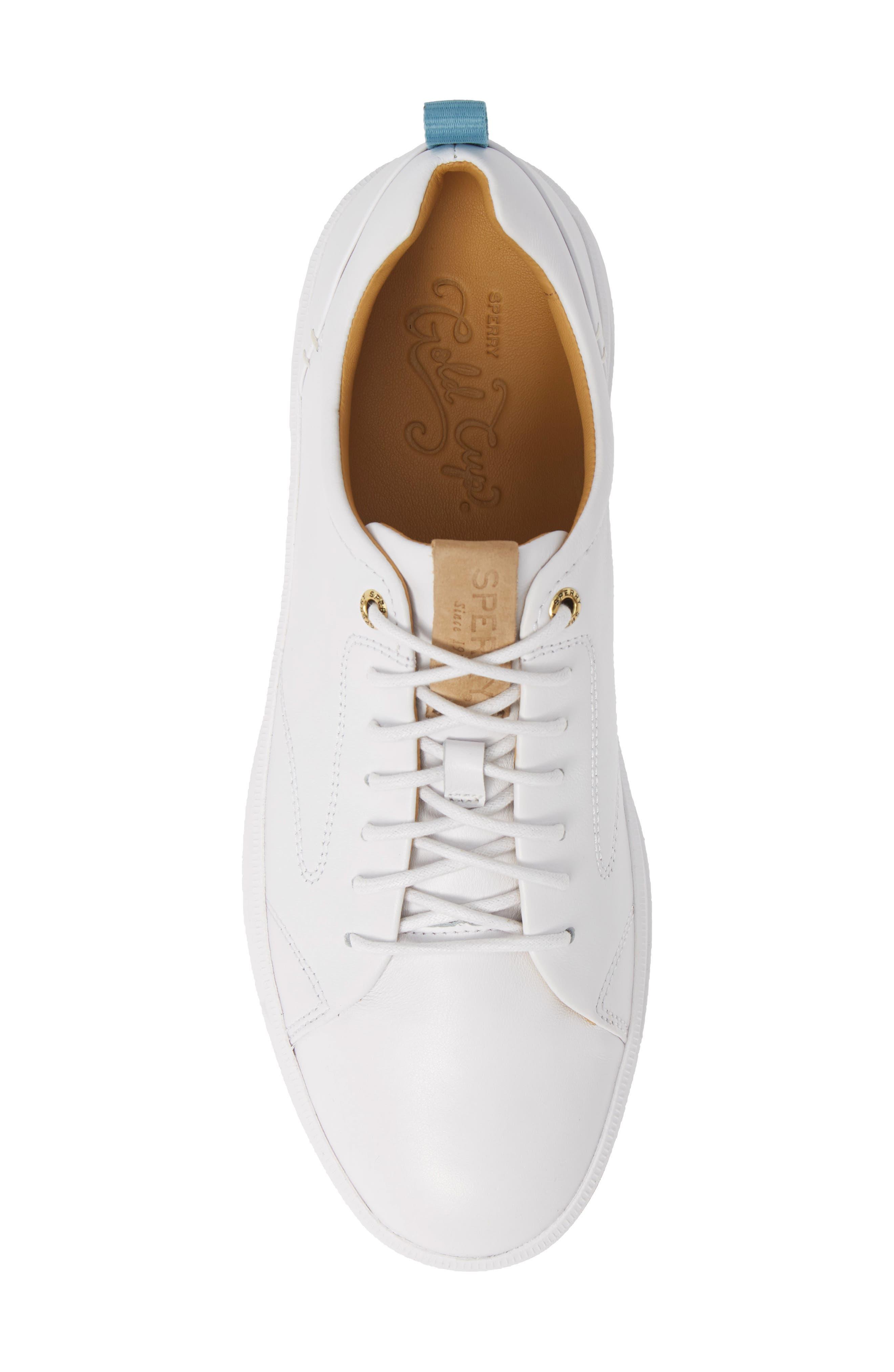 SPERRY, Gold Cup Richfield LTT Sneaker, Alternate thumbnail 5, color, WHITE