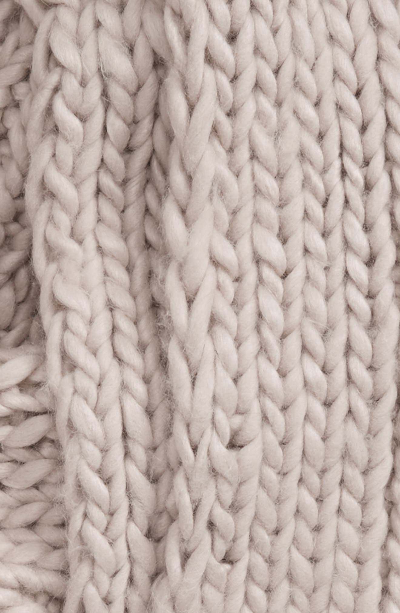 SHIRALEAH, Sierra Knit Scarf, Alternate thumbnail 3, color, TAUPE
