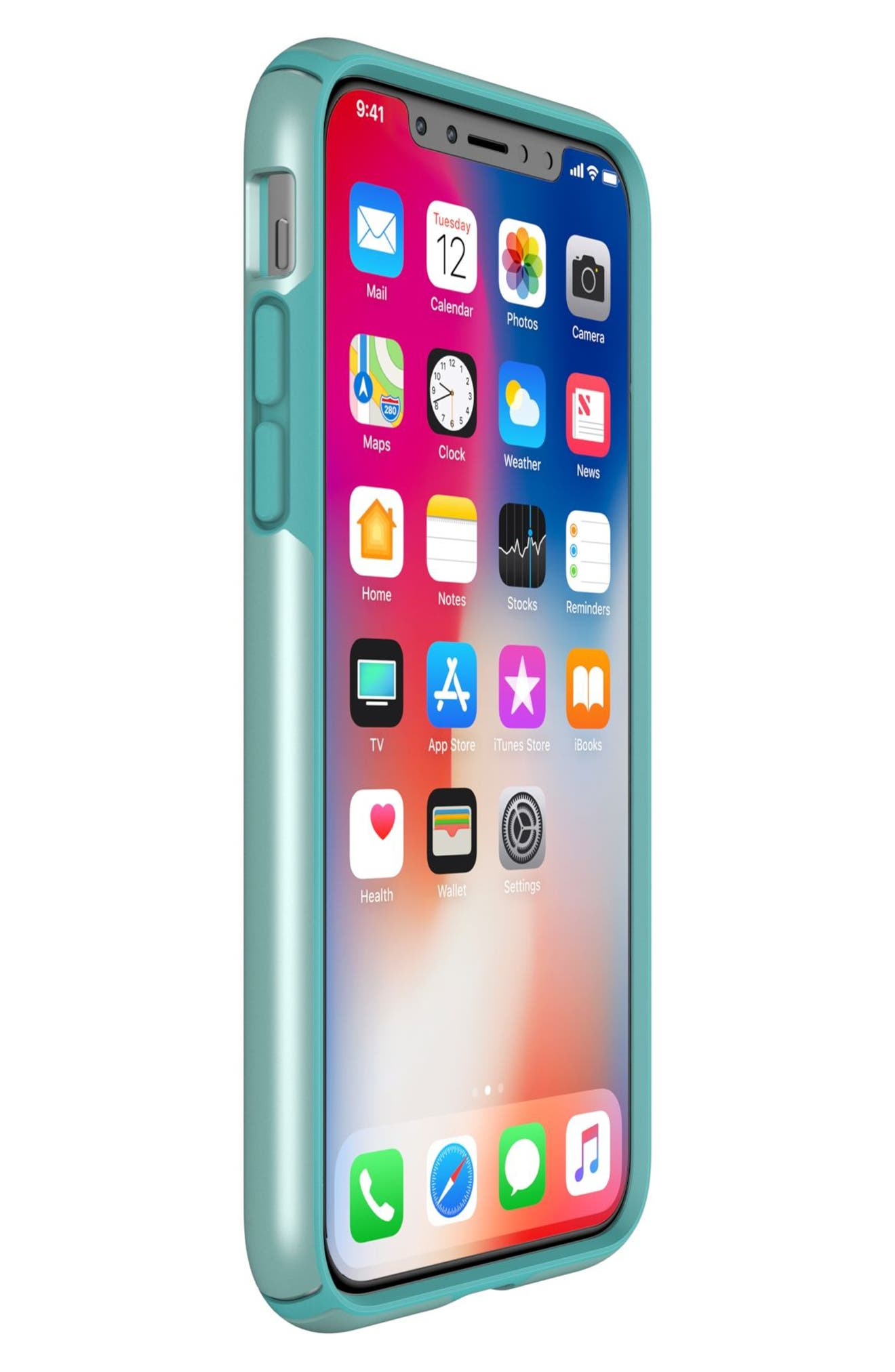 SPECK, iPhone X & Xs Case, Alternate thumbnail 7, color, PEPPERMINT GREEN / TEAL