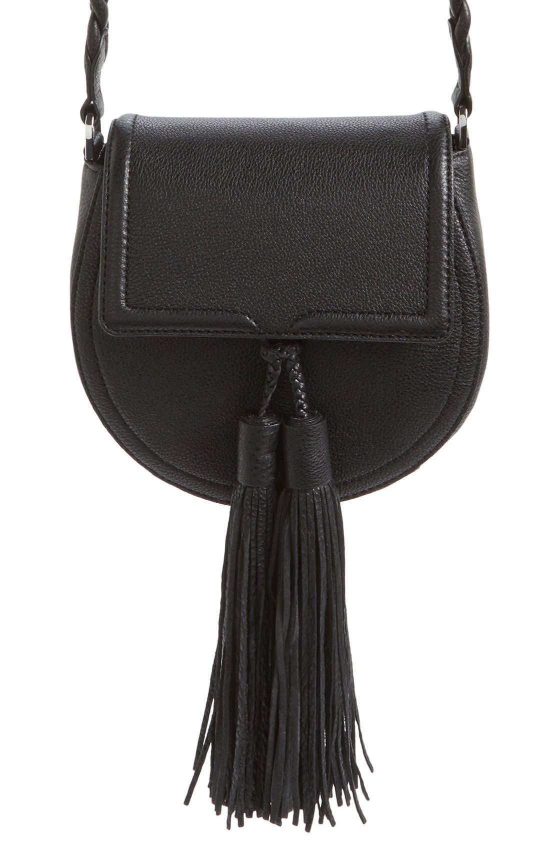 REBECCA MINKOFF, 'Isobel' Saddle Bag, Main thumbnail 1, color, 001