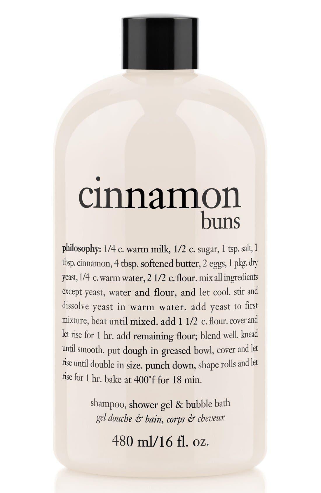 PHILOSOPHY, 'cinnamon buns' shampoo, shower gel & bubble bath, Main thumbnail 1, color, NO COLOR