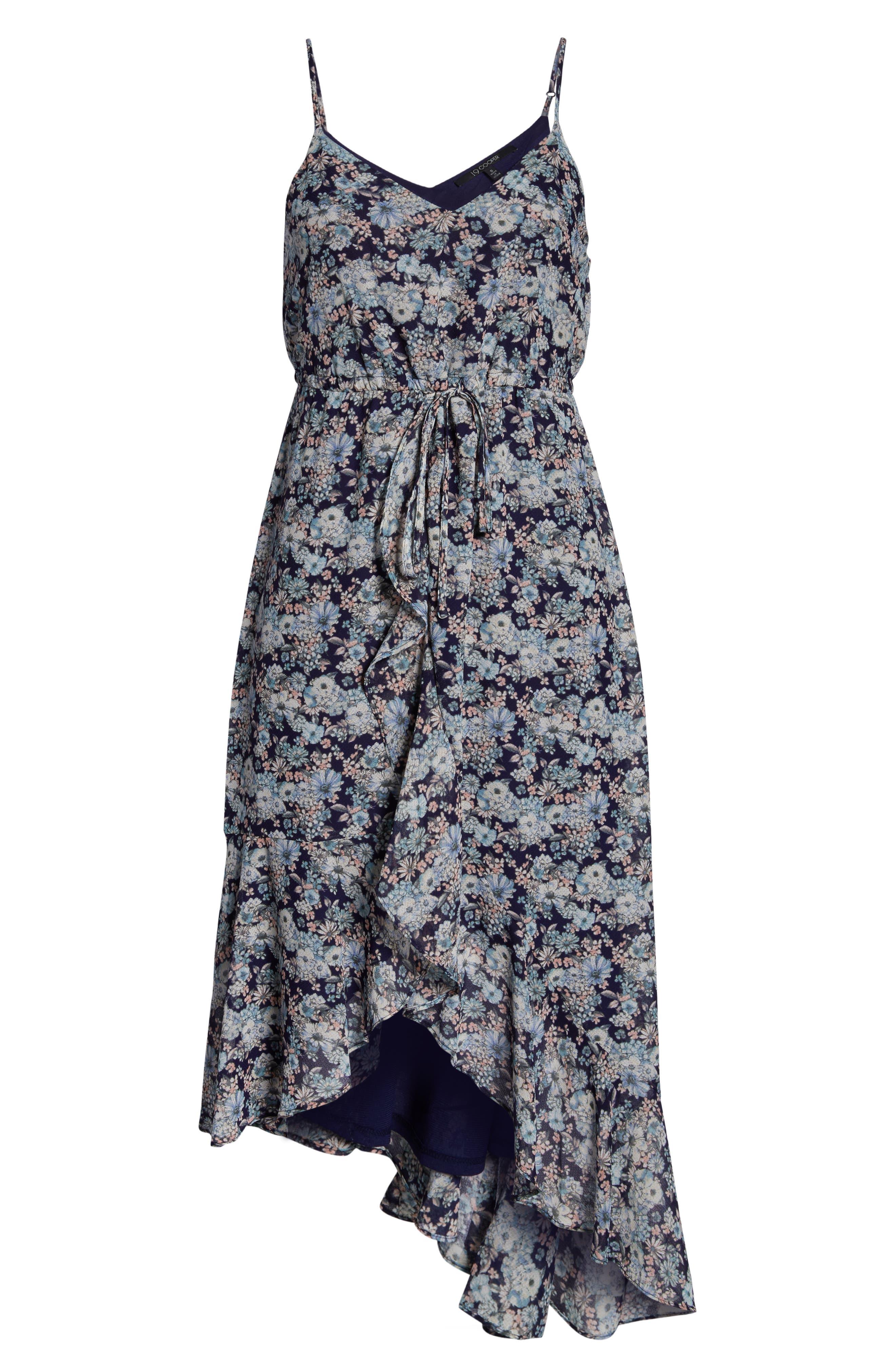 19 COOPER, Asymmetrical Ruffle Hem Dress, Alternate thumbnail 7, color, 410