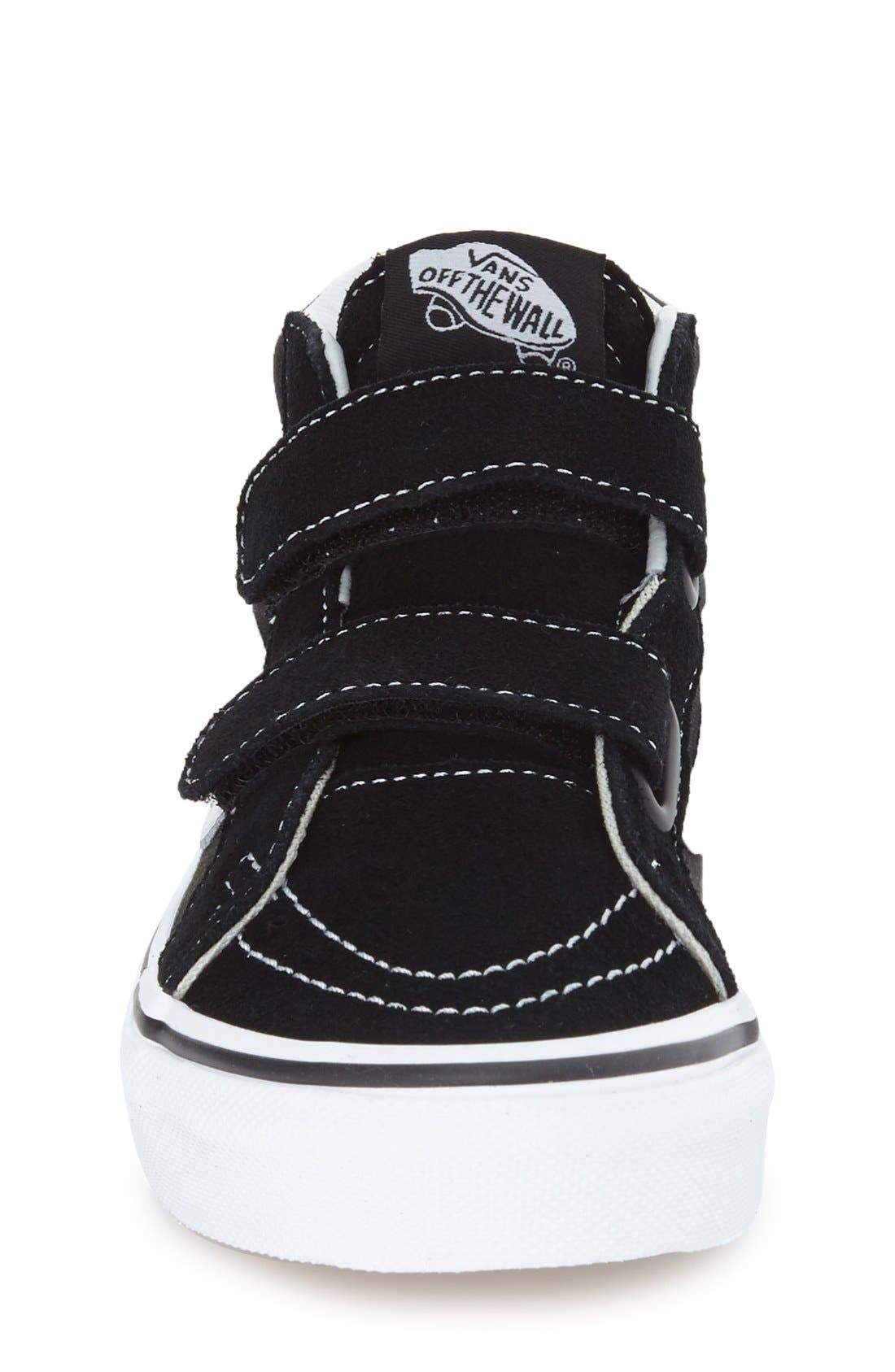 VANS, 'Sk8-Hi Reissue V' Sneaker, Alternate thumbnail 4, color, BLACK/ TRUE WHITE