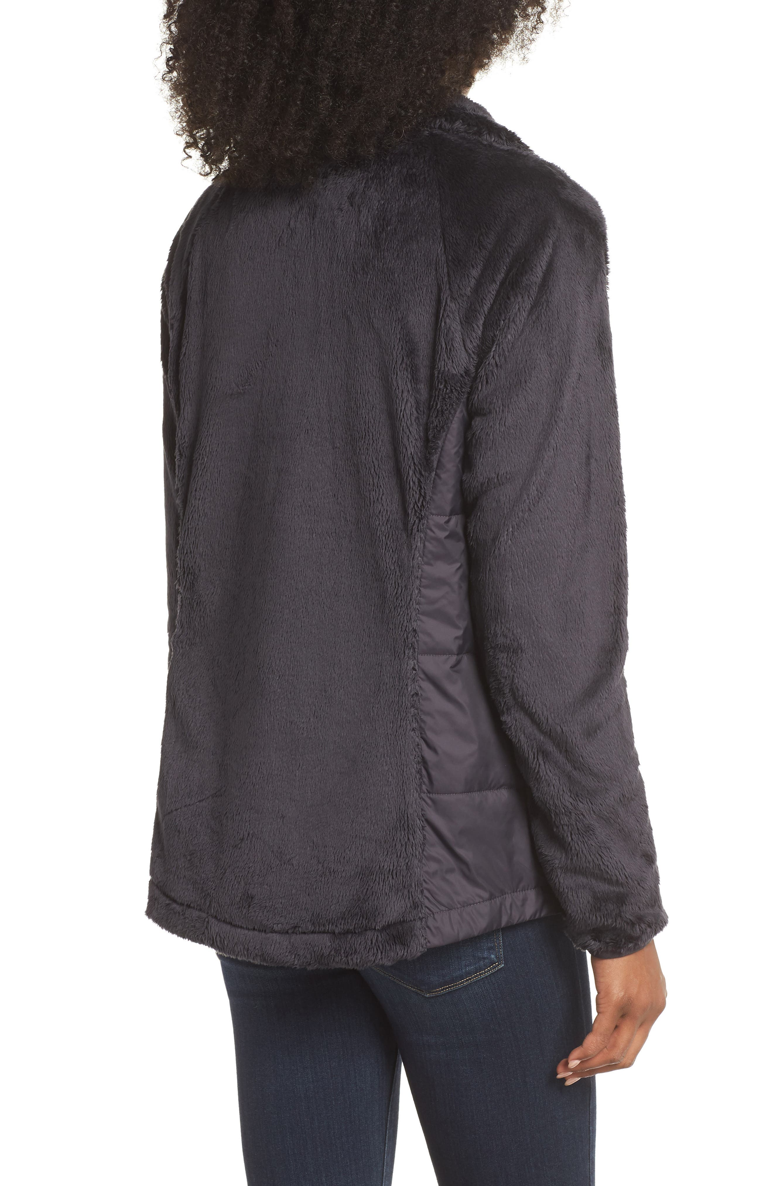 THE NORTH FACE, Osito Sport Hybrid Jacket, Alternate thumbnail 2, color, WEATHERED BLACK