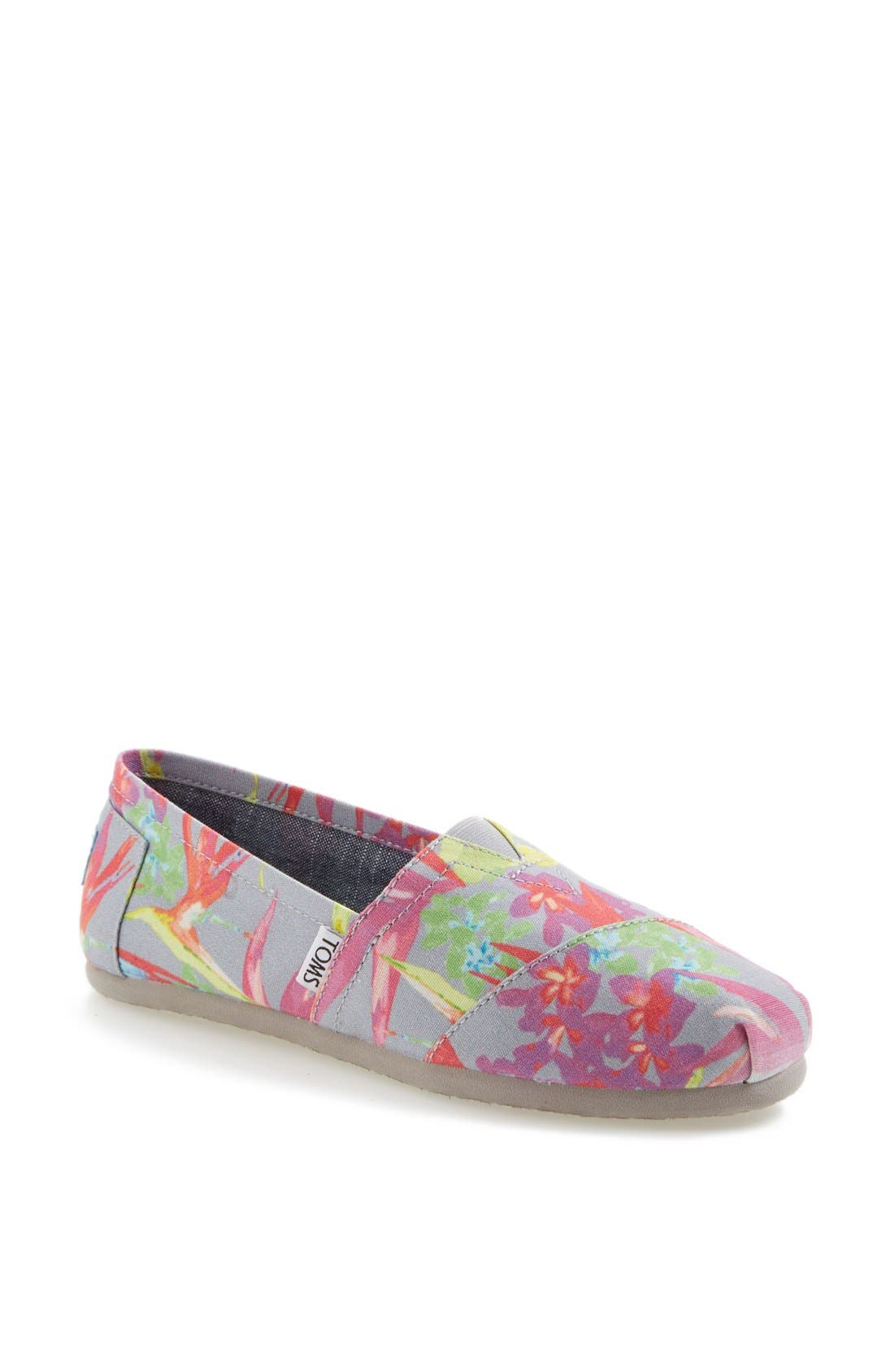 TOMS, 'Classic - Birds of Paradise' Slip-On, Main thumbnail 1, color, 020