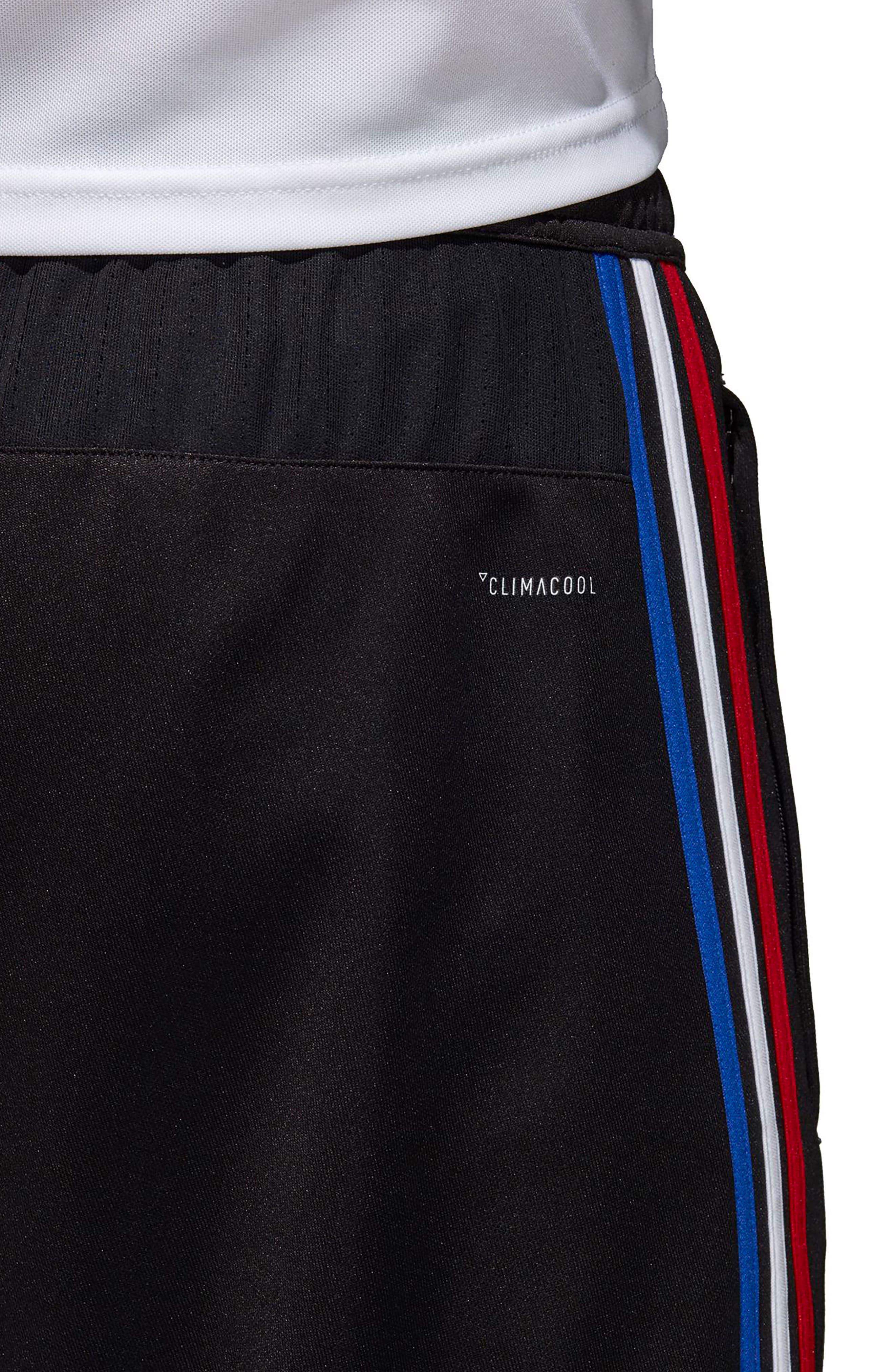 ADIDAS, Tiro 17 Regular Fit Training Pants, Alternate thumbnail 6, color, BLACK/ RED/ WHITE/ BLUE