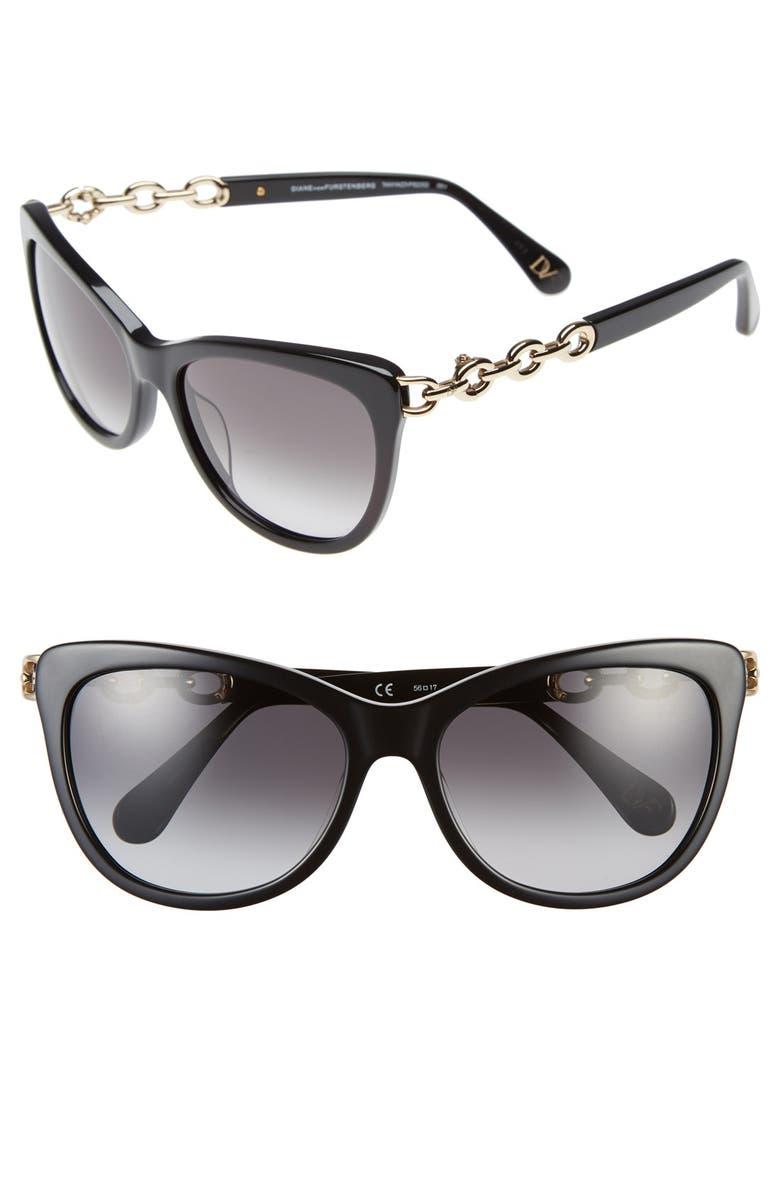 019f9ec95774 DIANE VON FURSTENBERG 'Tanya' 56mm Cat Eye Sunglasses, Main, color, ...