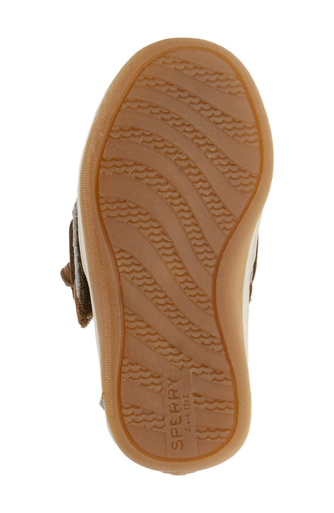 SPERRY KIDS, 'Songfish' Boat Shoe, Alternate thumbnail 6, color, LINEN/ OAT LEATHER