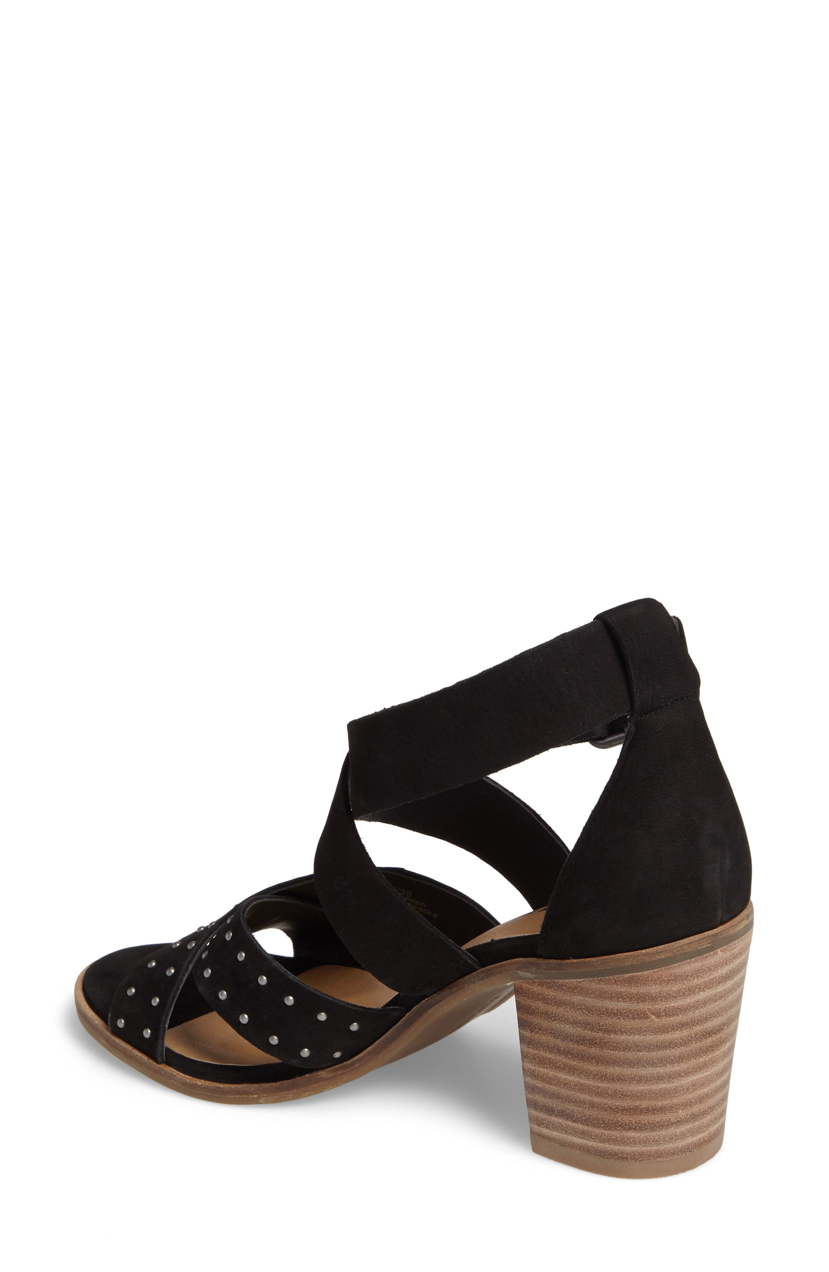 LUCKY BRAND, Kesey Block Heel Sandal, Alternate thumbnail 2, color, 001