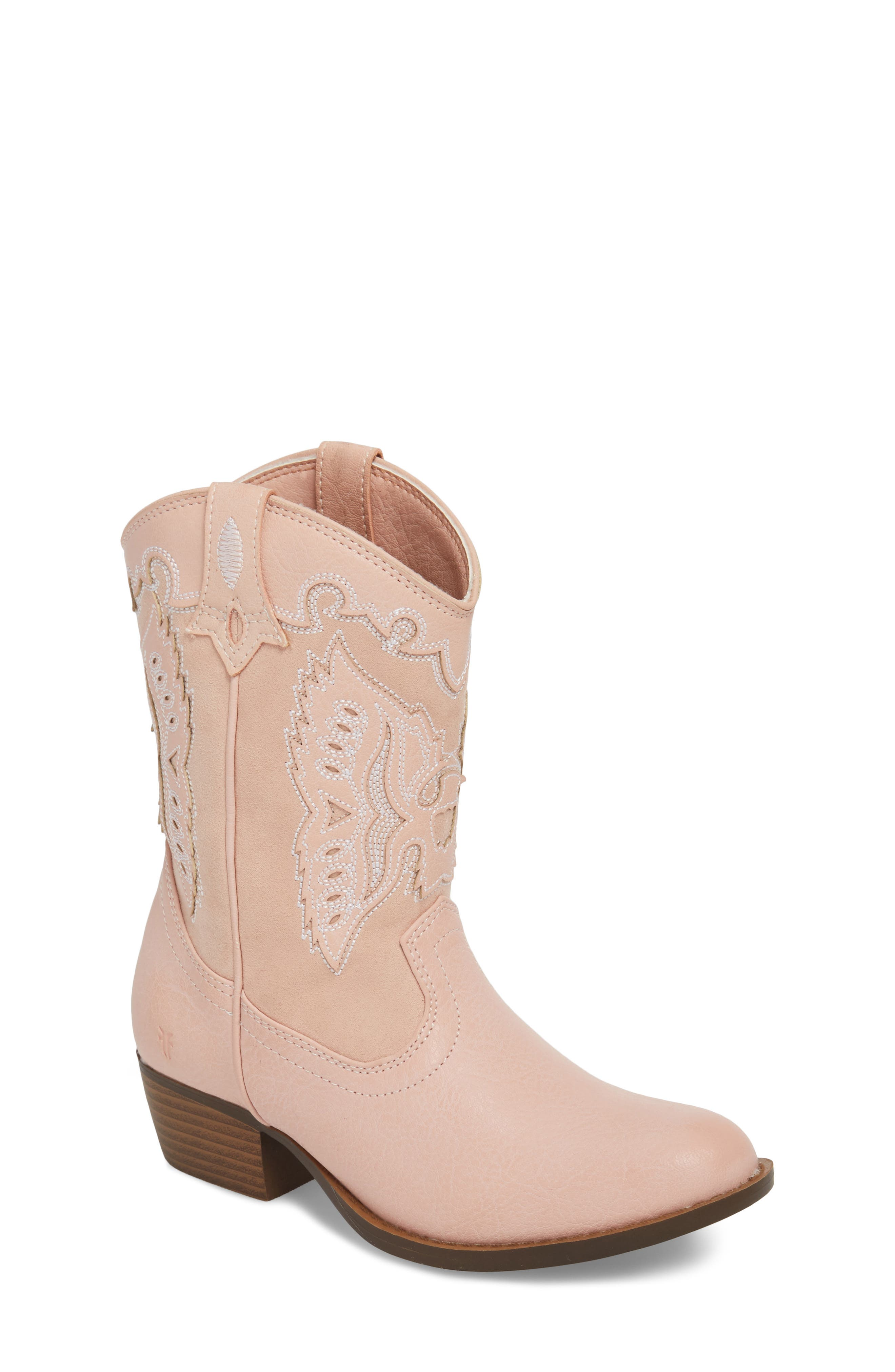 FRYE, Carson Firebird Cowgirl Boot, Main thumbnail 1, color, PINK