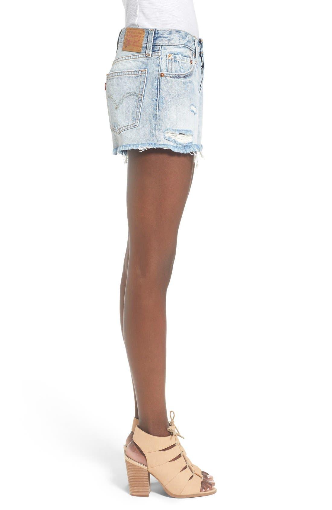 LEVI'S<SUP>®</SUP>, '501<sup>®</sup>' Cutoff Denim Shorts, Alternate thumbnail 5, color, 420