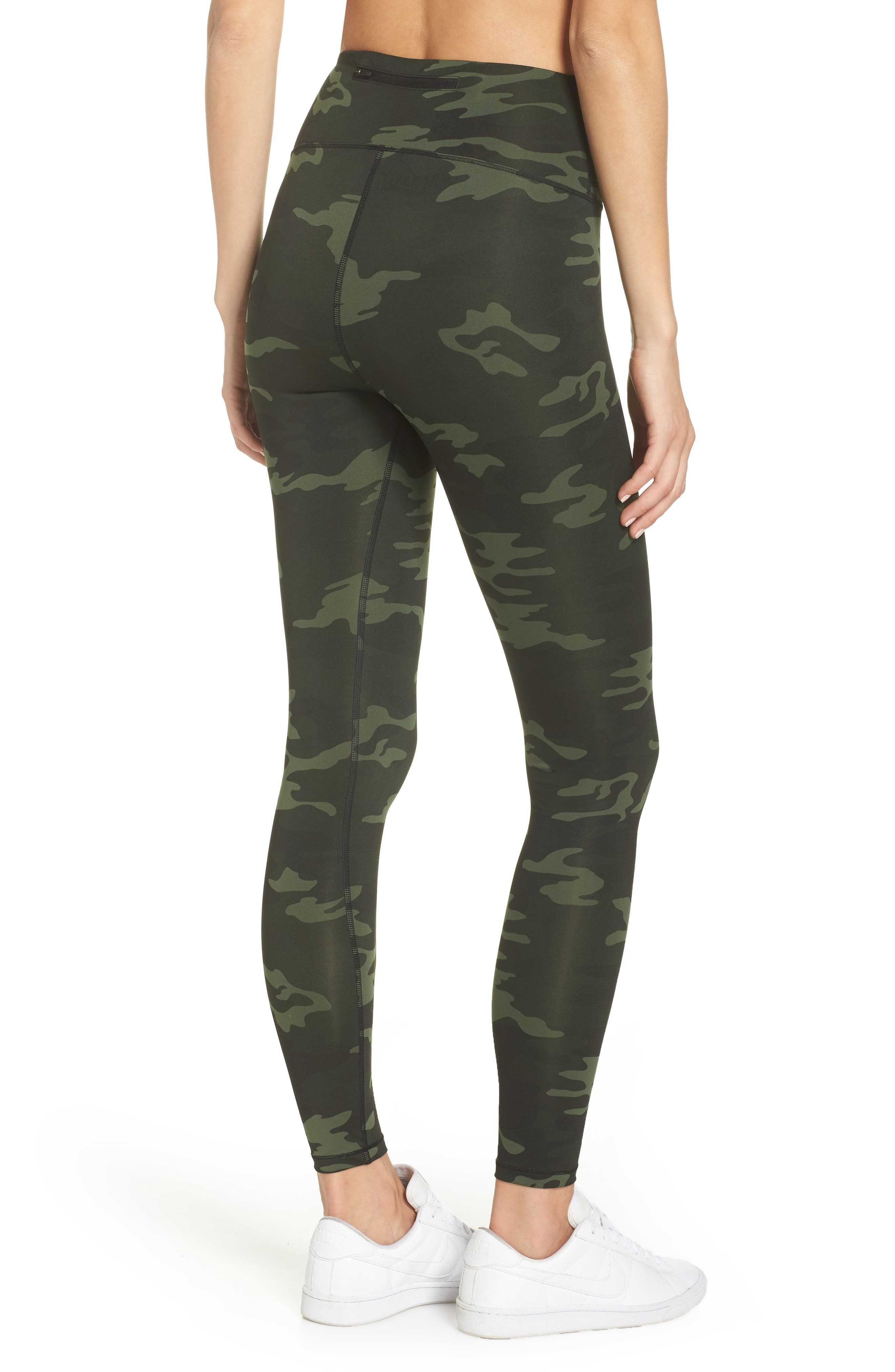 GOOD AMERICAN, Core Strength High Waist Leggings, Alternate thumbnail 2, color, CAMO001