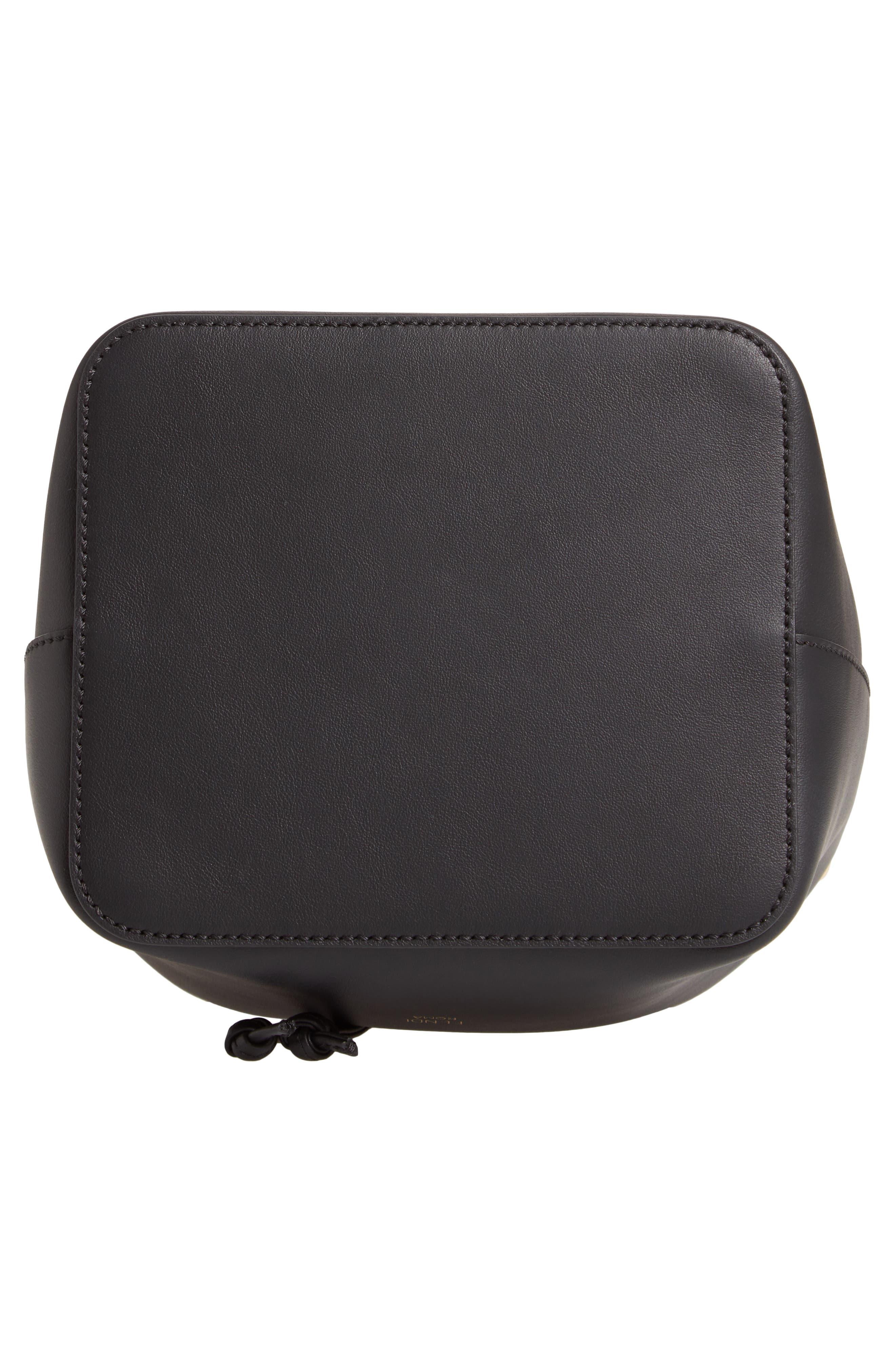 FENDI, Mon Tresor Logo Bucket Bag, Alternate thumbnail 6, color, 006